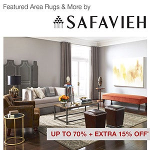 Up to 70% + Extra 15% Off* Featured Area Rugs & More by Safavieh