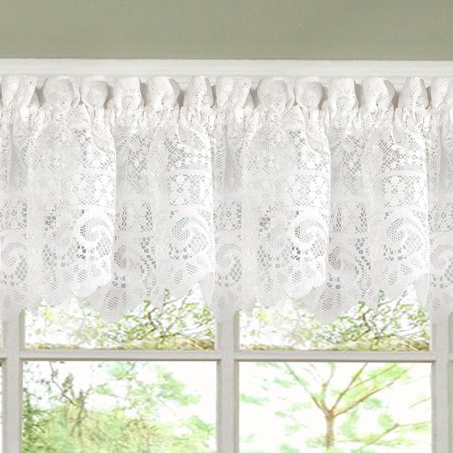 White Lace Luxurious Old World-style Kitchen Curtains