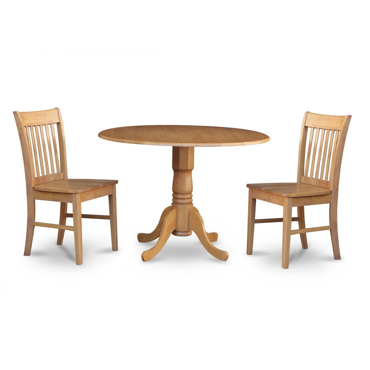 Oak Small Table And 2 Dinette Chairs 3