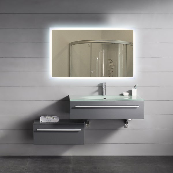 bathroom mirrors overstock backlit mirror rectangle 40x24 11157