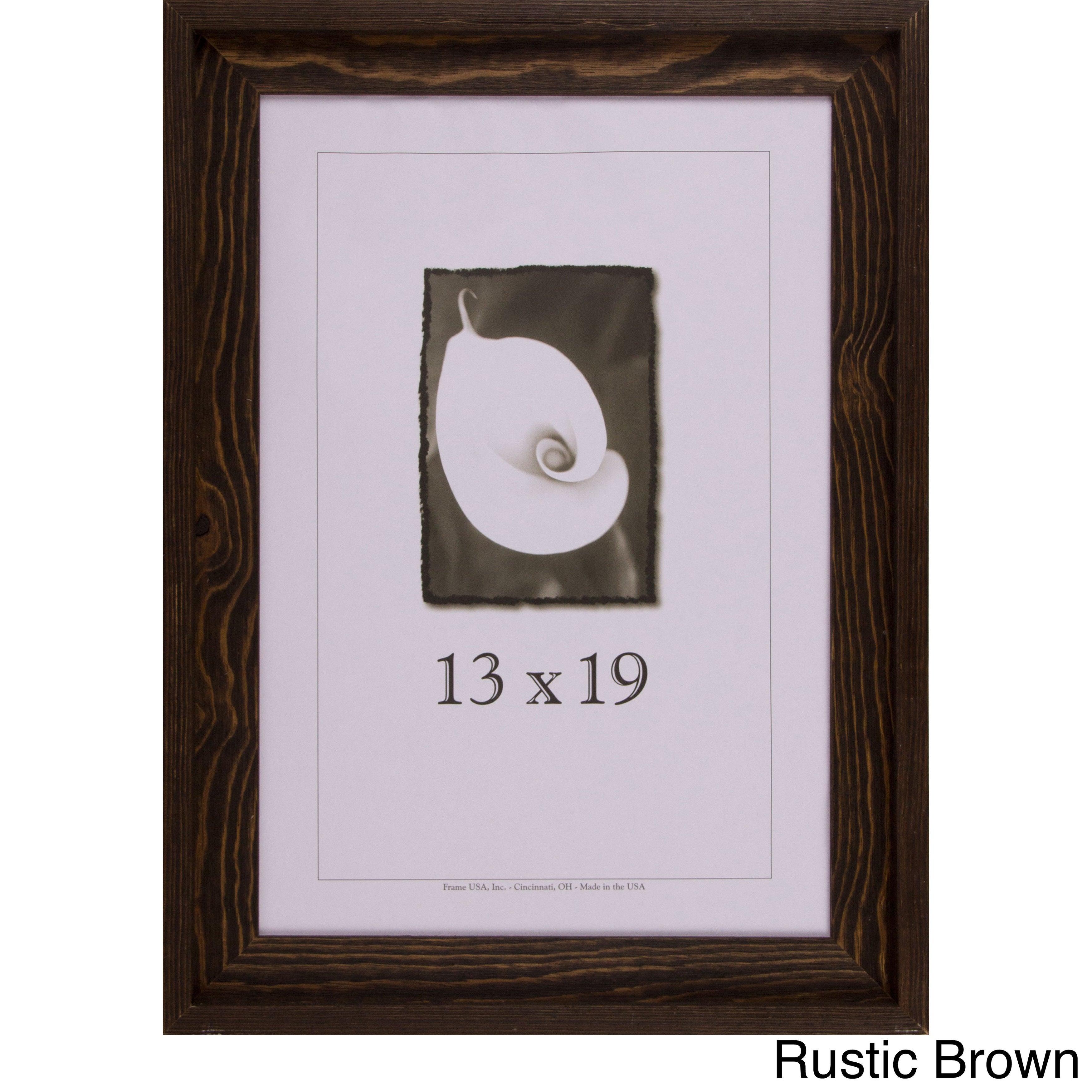 Appalachian Barnwood Picture Frame 13x19 Rustic Brown 13x19 | eBay