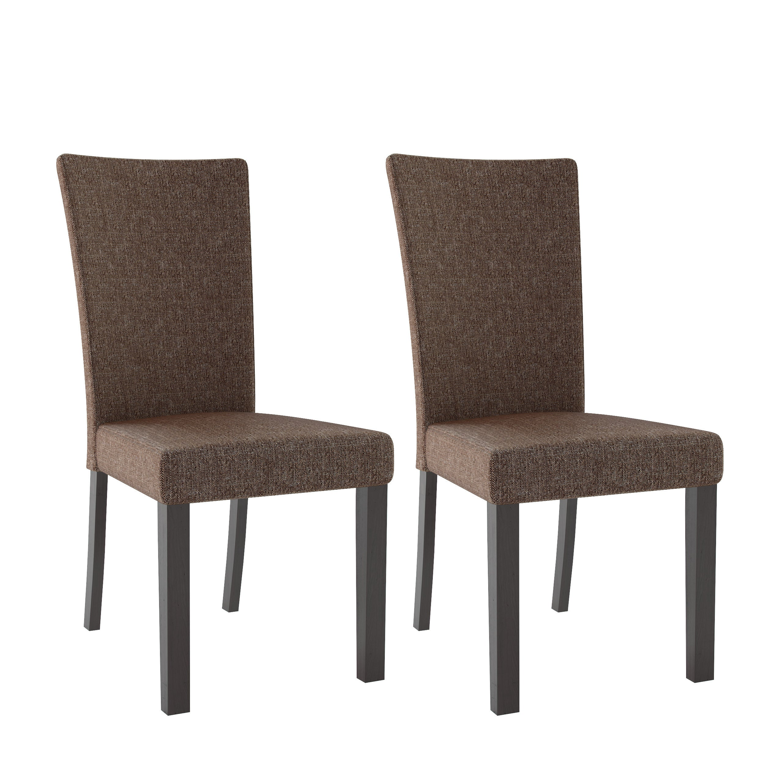 Bistro woven fabric dining chairs set of 2