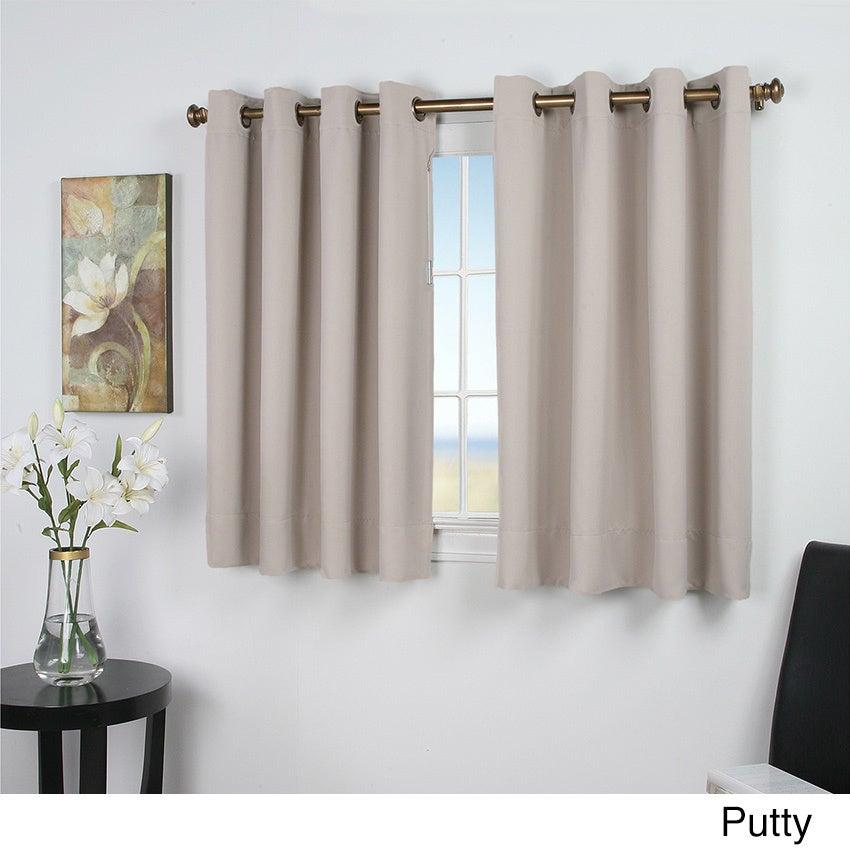 ultimate blackout 54 inch short length grommet curtain panel ebay. Black Bedroom Furniture Sets. Home Design Ideas