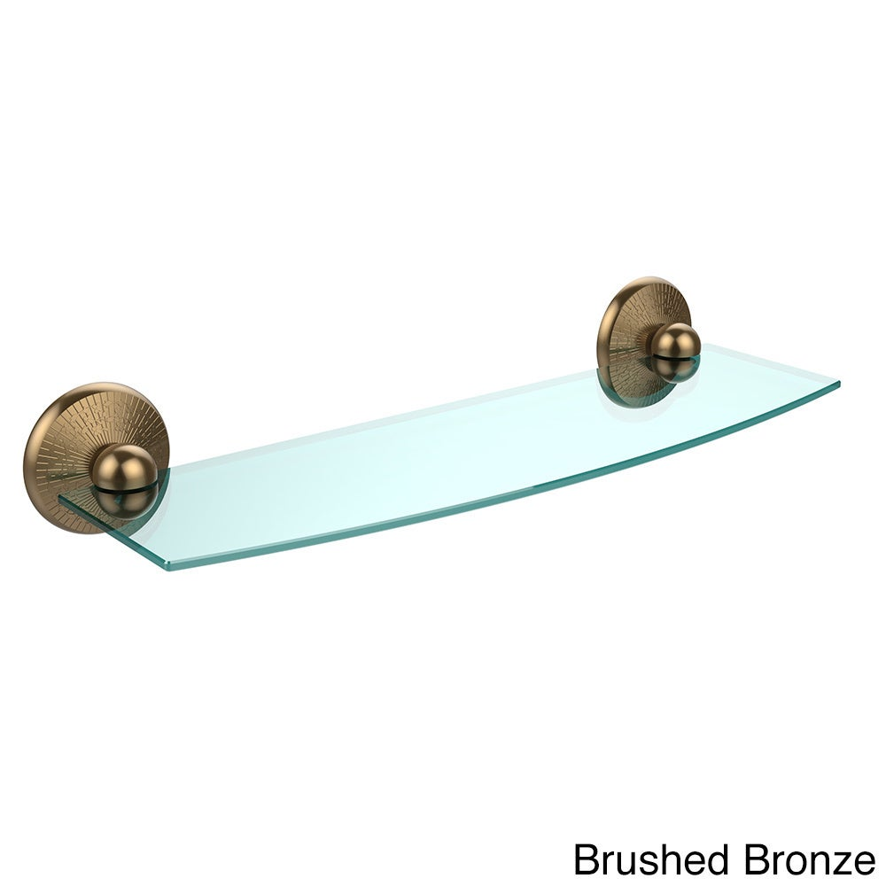Allied Brass 18in Beveled Glass Shelf Satin Chrome | eBay