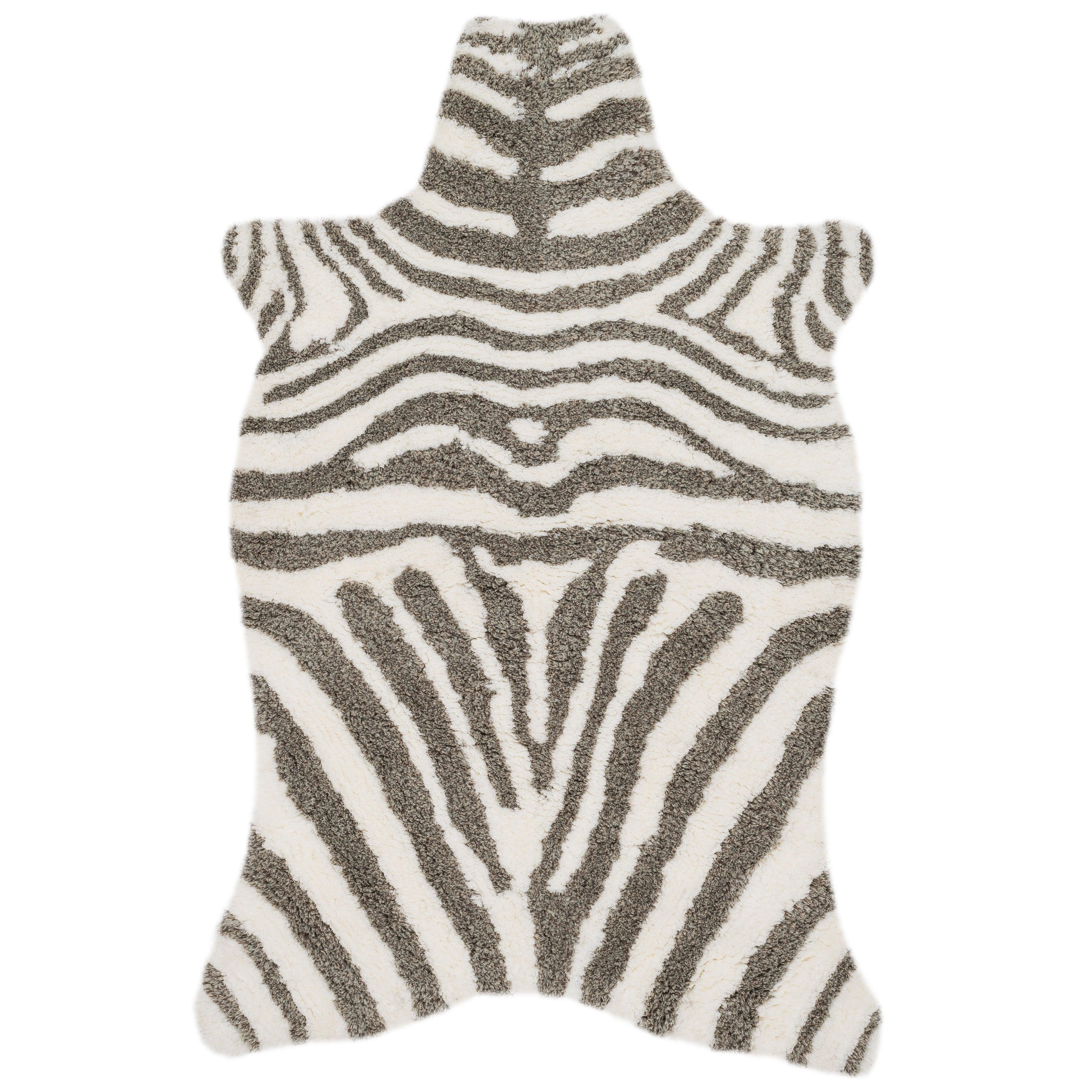 Clay Alder Home Osage Creek Hand-tufted Kingdom Faux Zebra