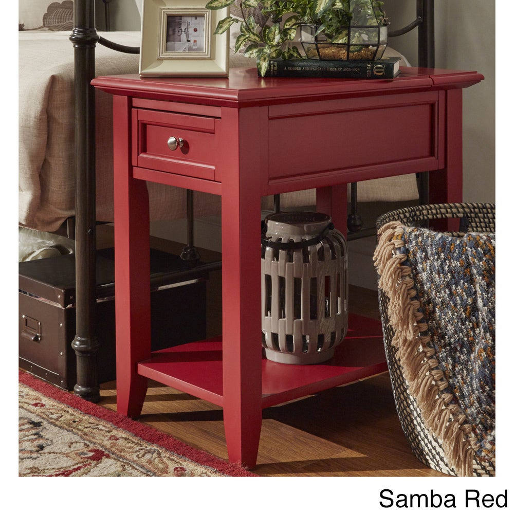 Zayden 1 Drawer Side Table With Charging Station
