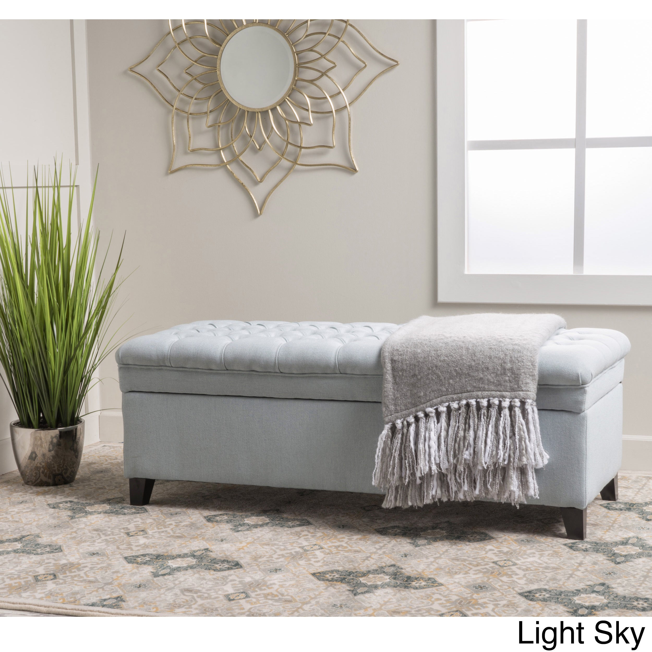 Kosas Home Fabric Storage Bedroom Bench Reviews: Christopher Knight Home Hastings Tufted Fabric Storage