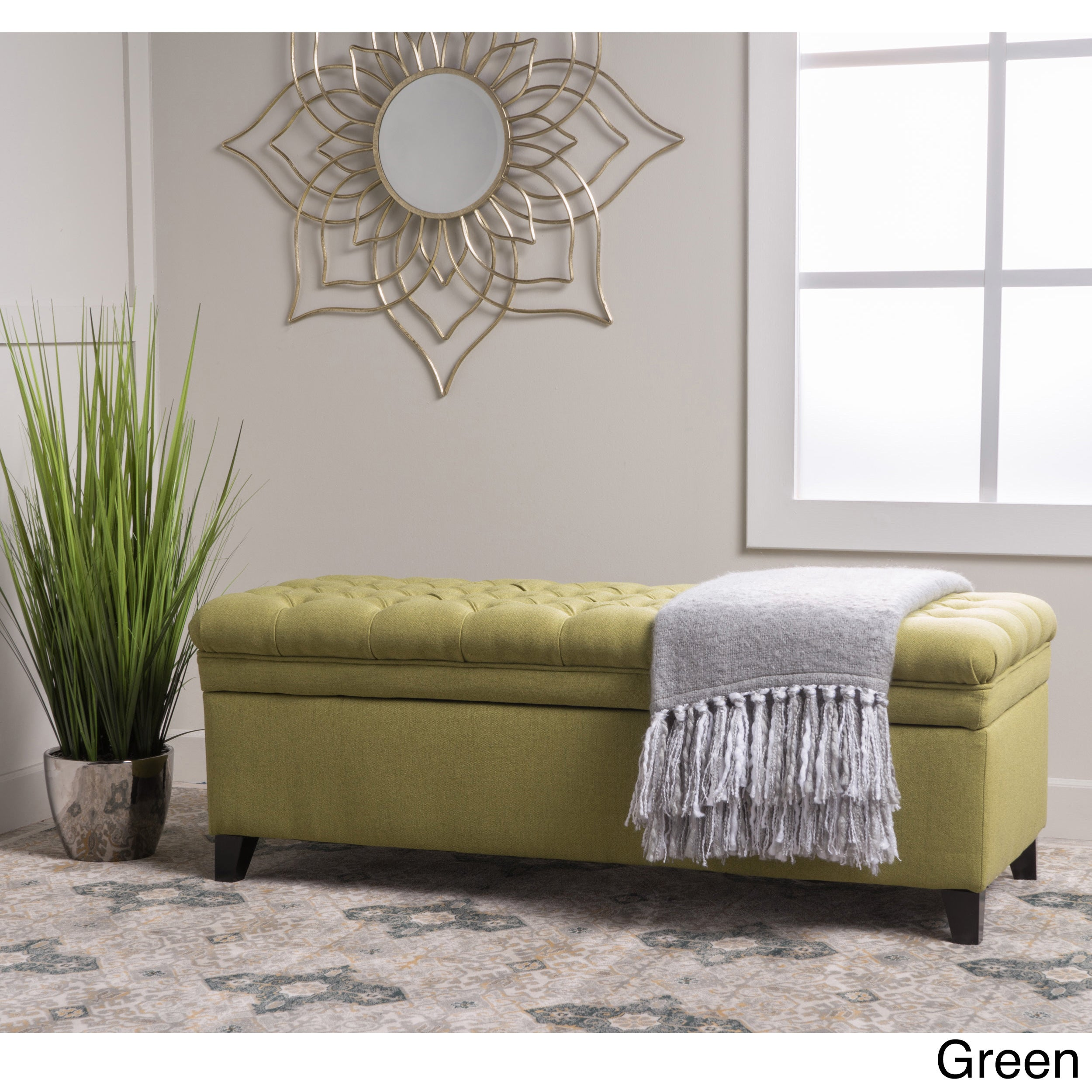 Fabric Storage Bench Microfiber Button Tufted Bedroom Seat: Christopher Knight Home Hastings Tufted Fabric Storage