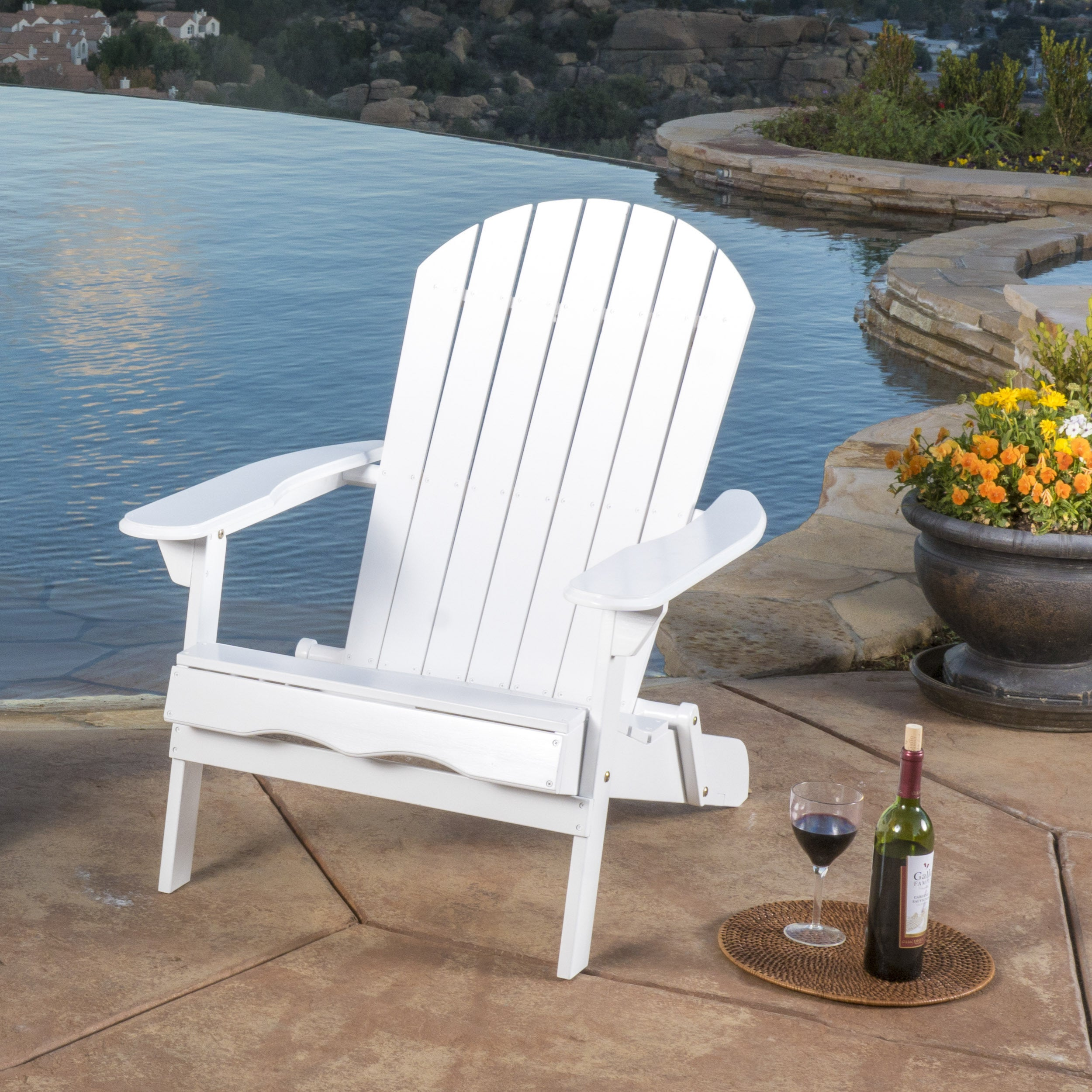 hayle outdoor reclining wood adirondack chair with footrest by christopher ebay. Black Bedroom Furniture Sets. Home Design Ideas