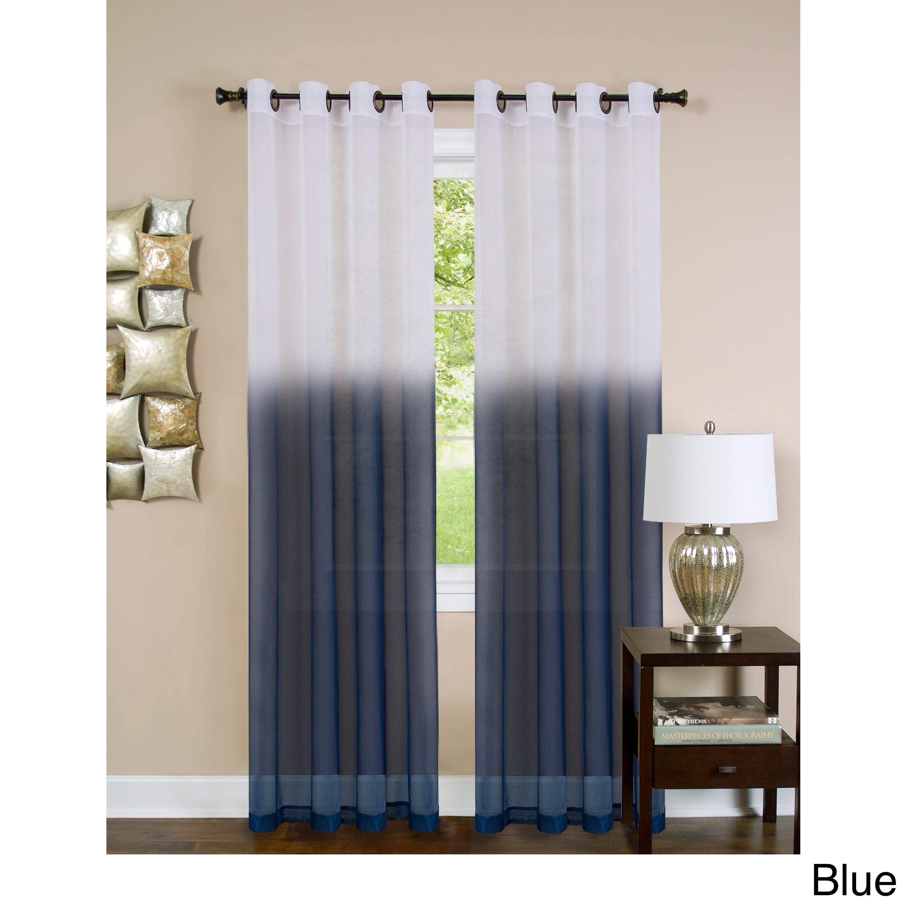 Achim Essence Ombre Grommet Curtain Panel Ebay
