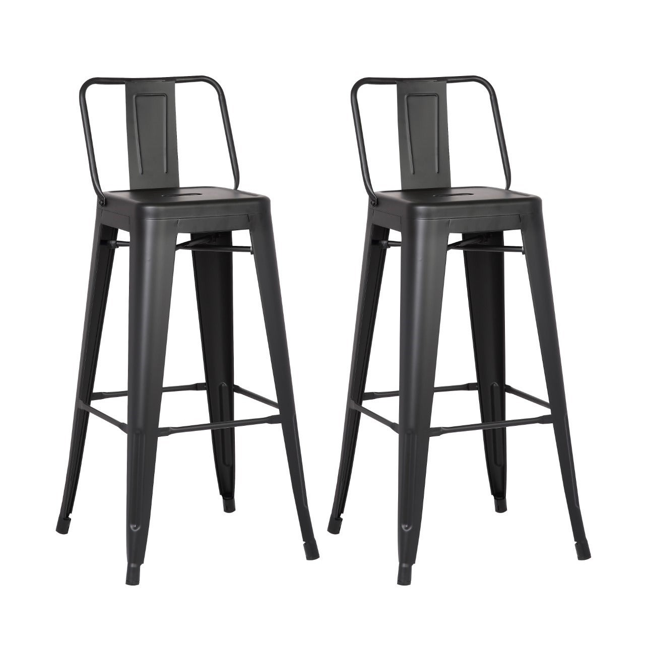 Steel 24 inch bar stool set of 2