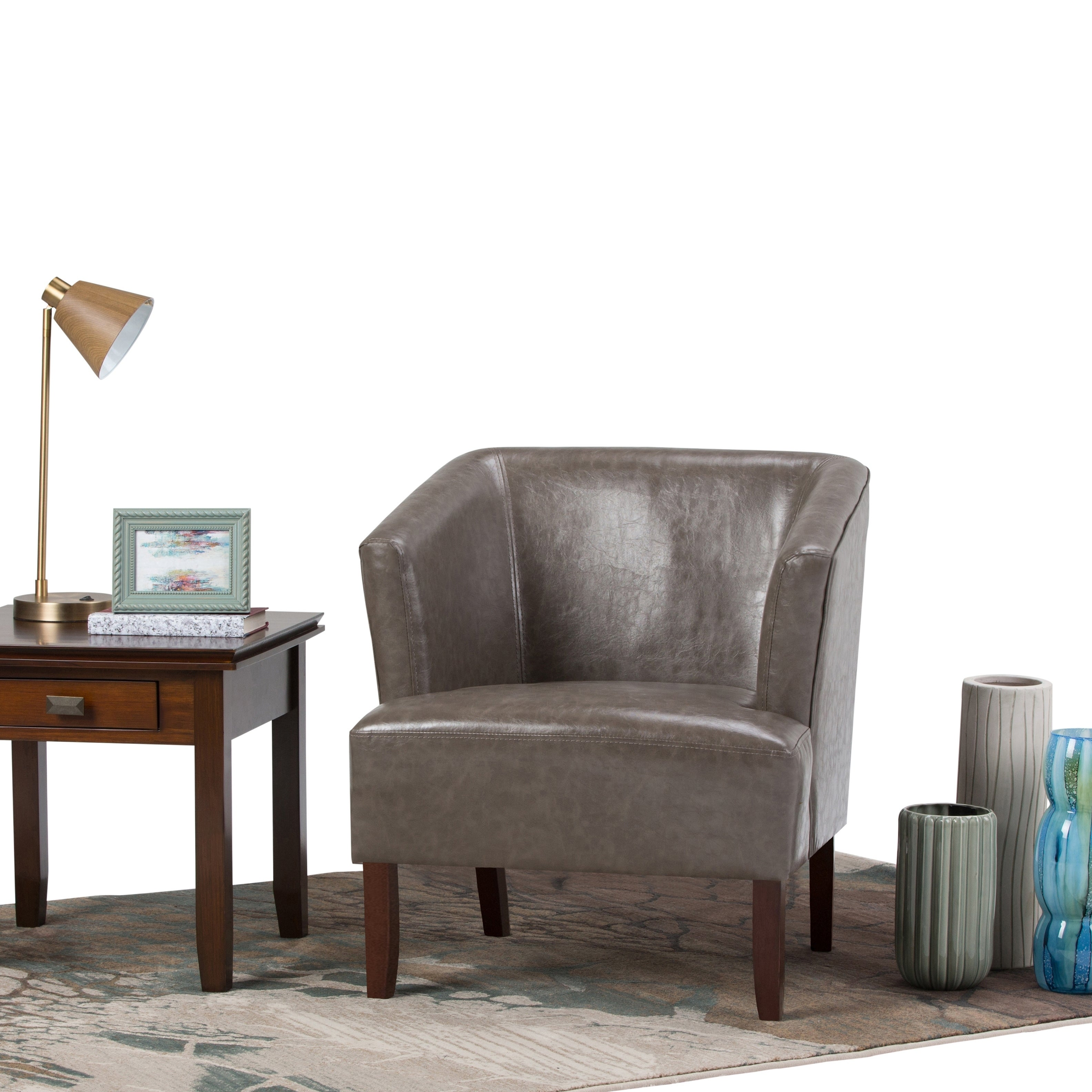 WYNDENHALL Clifton Bonded Leather Club Chair