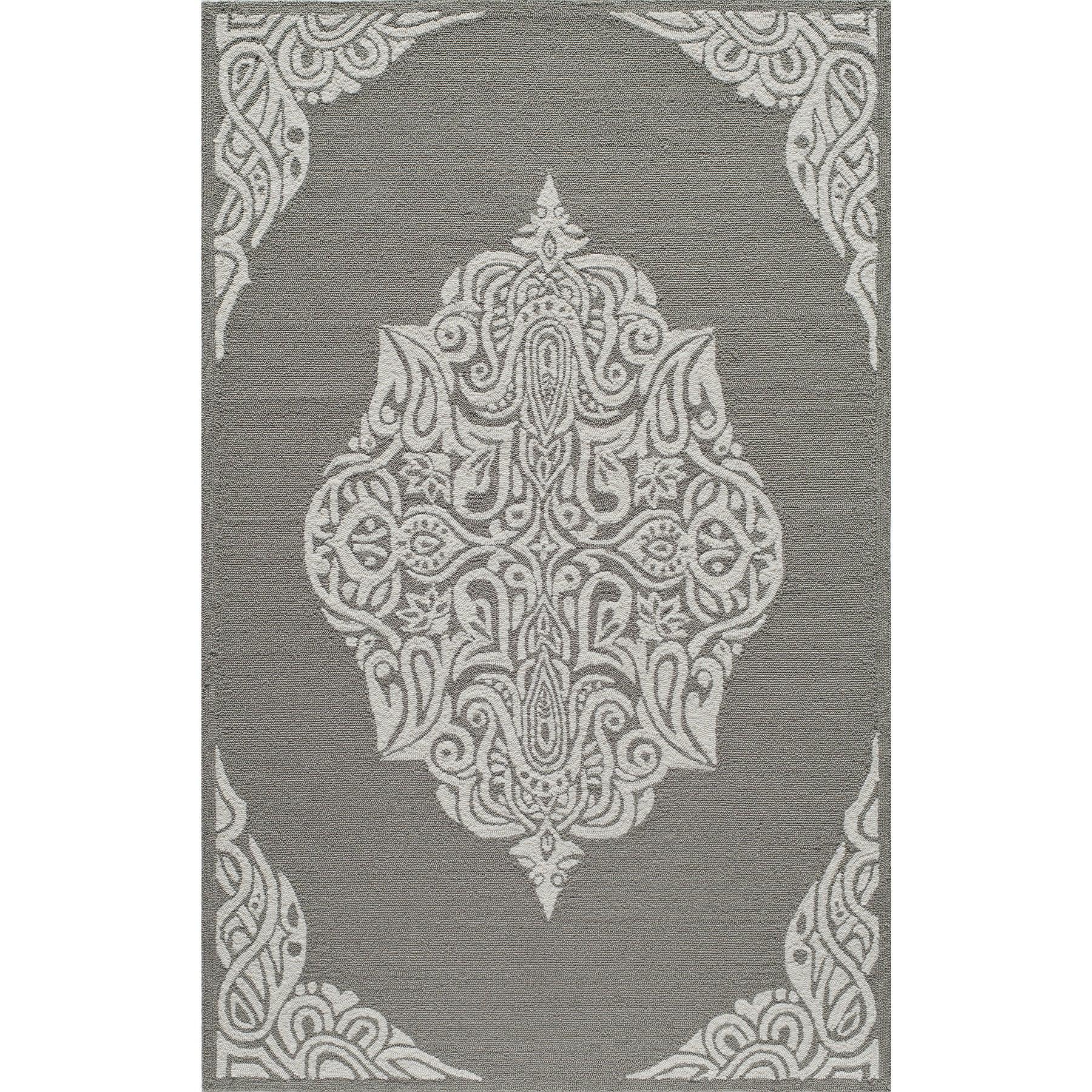 Momeni Veranda Grey Medallion Indoor Outdoor Rug 8