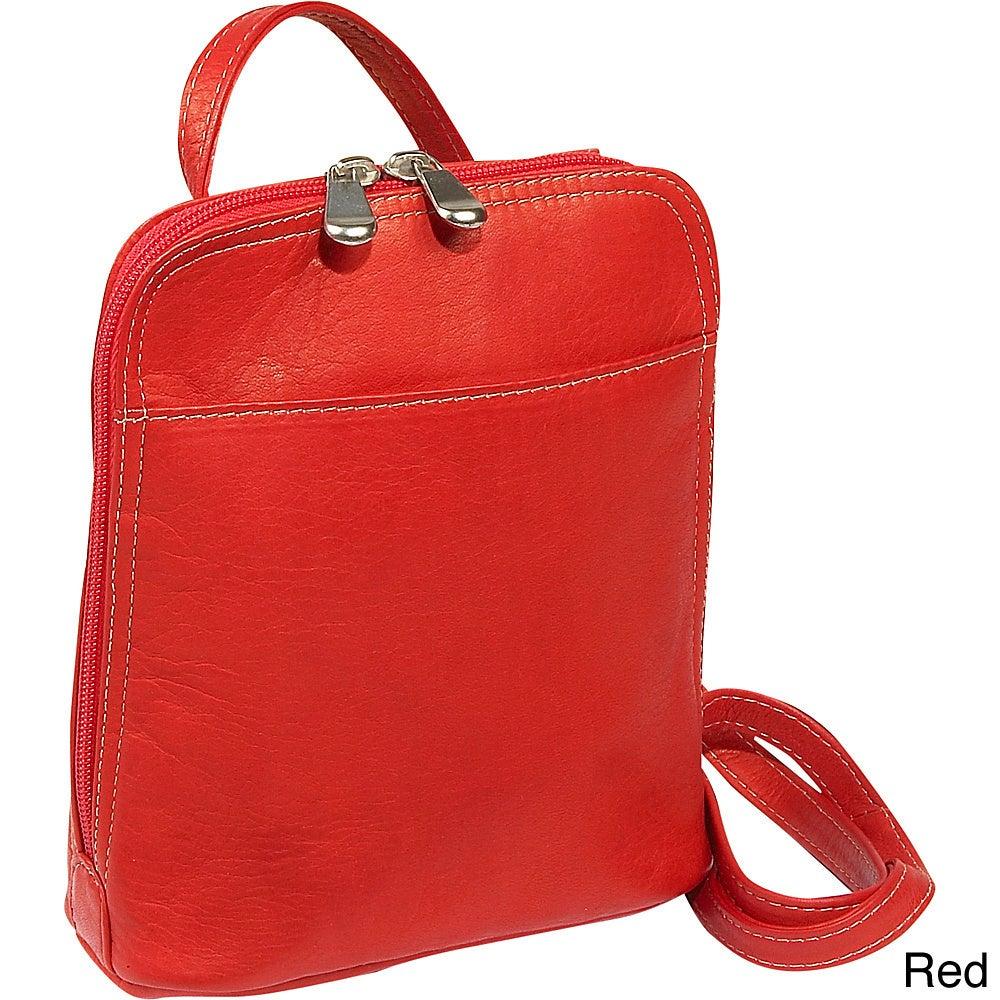 Le Donne Leather U-zip Mini 4 Colors Cross-body Bag Red  87b2aea01d17b