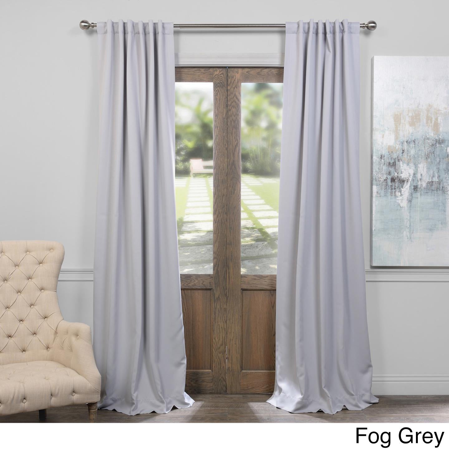 Exclusive Fabrics Thermal Insulated Solid Blackout 108 Inch