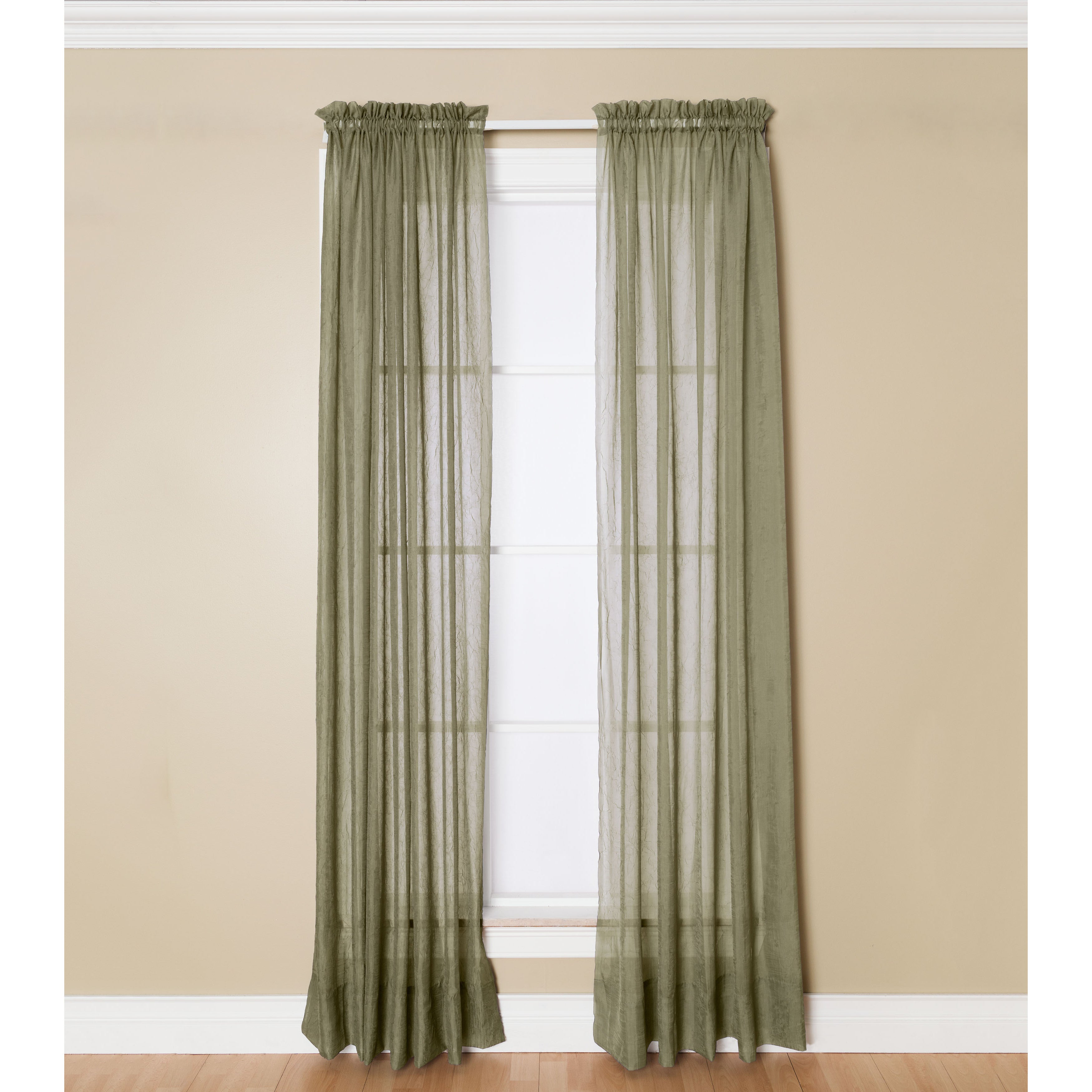 Miller Curtains Preston Sheer 108 Inch Rod Pocket