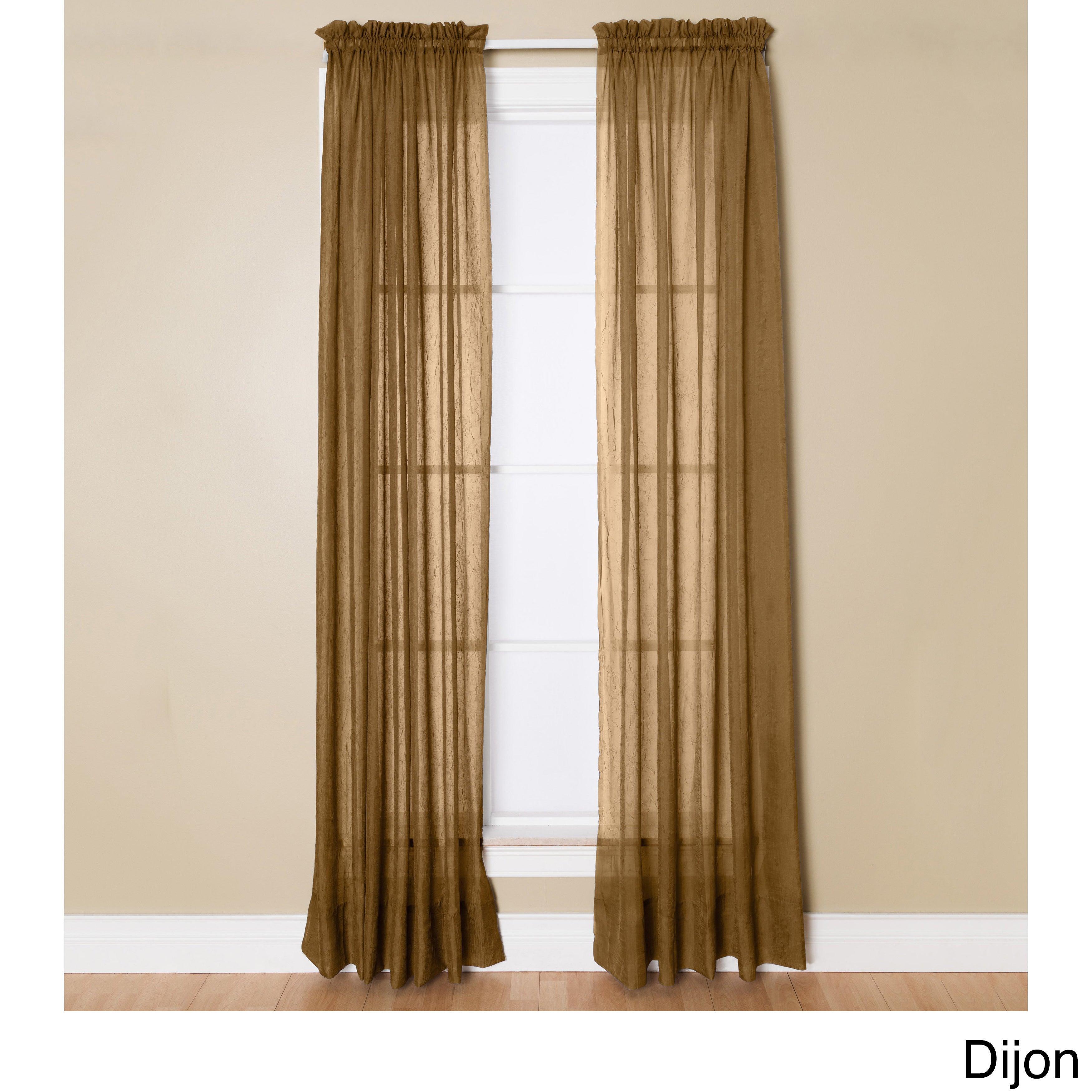Miller Curtains Preston 95 Inch Rod Pocket Sheer Curtain