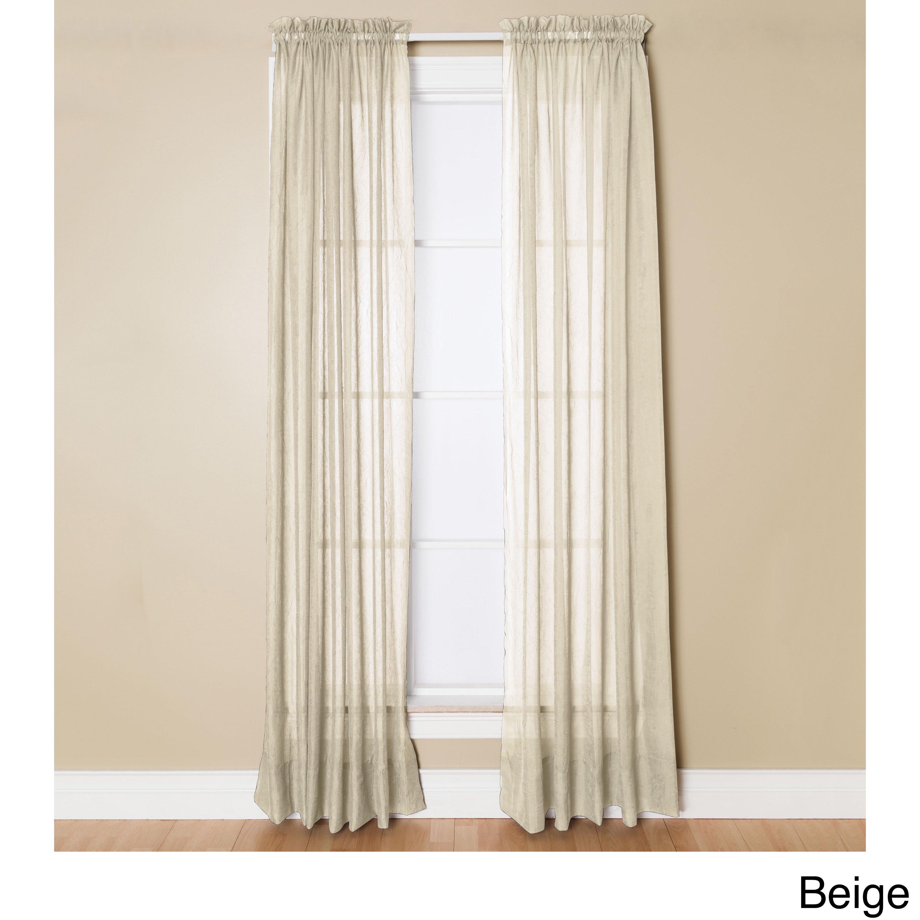 Miller Curtains Preston 95 Inch Rod Pocket Sheer