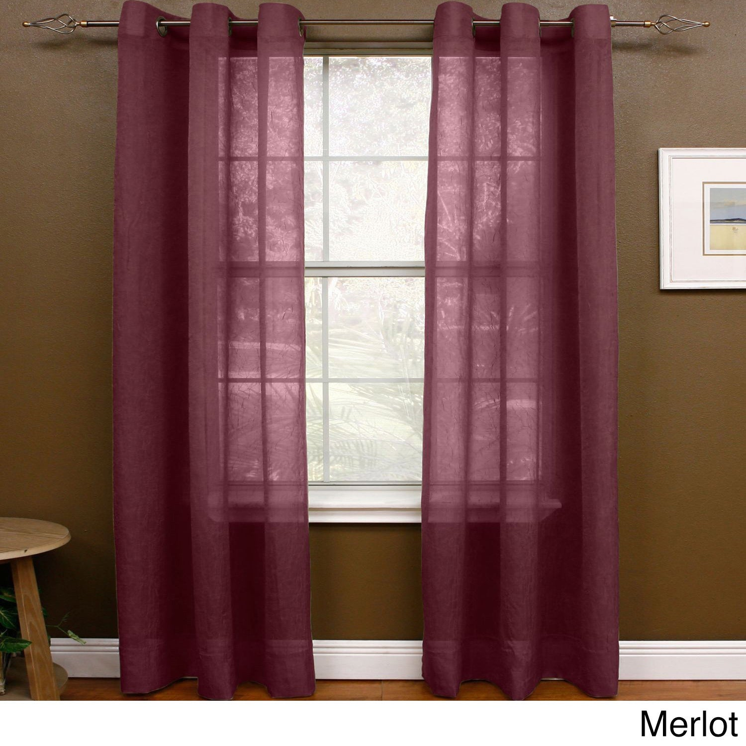 Miller Curtains Preston 63 Inch Grommet Sheer Panel