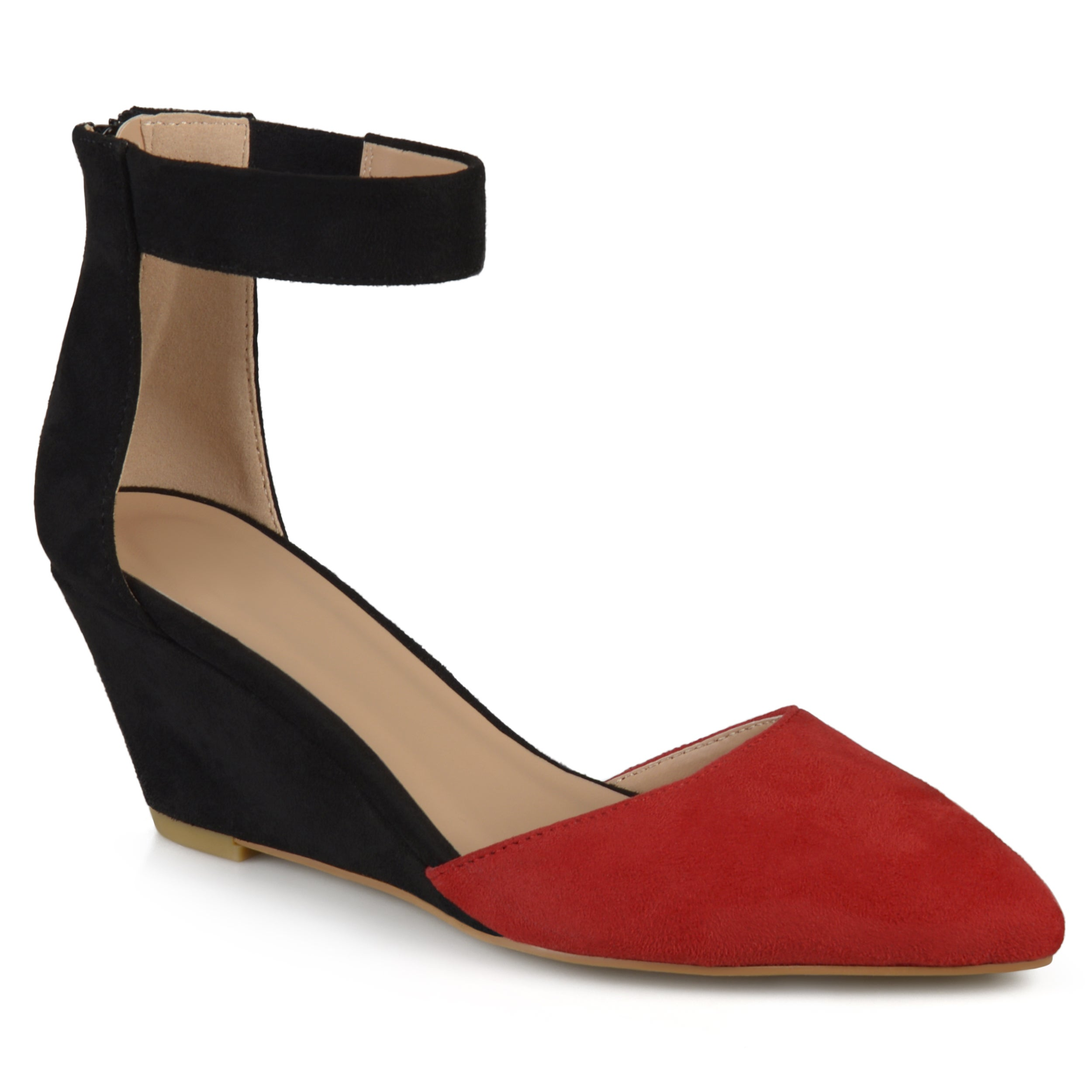 1d01279c6f4a JOURNEE Collection Women s  kova  Faux Suede Ankle Strap Pointed Toe ...