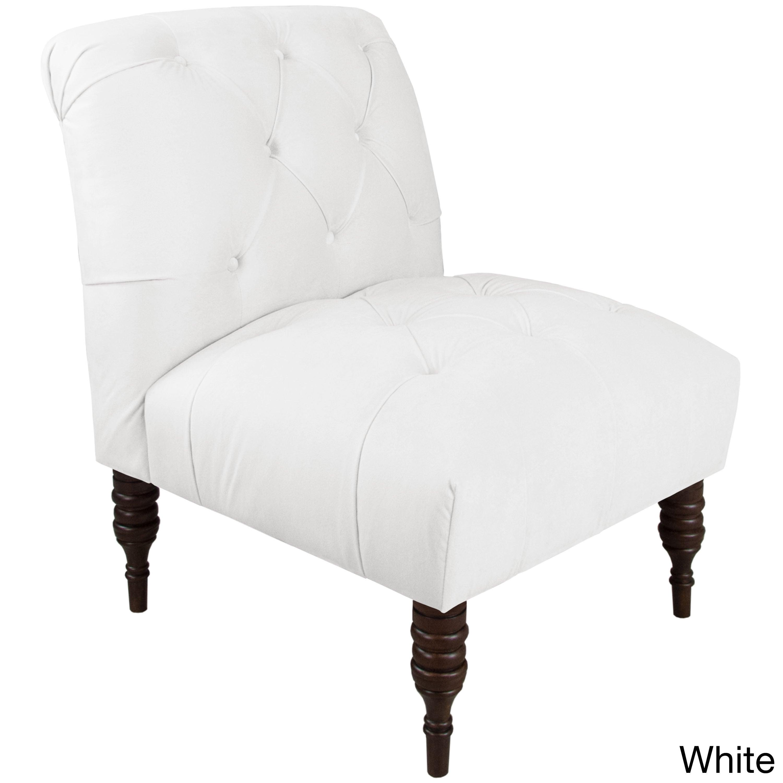 Bon Skyline Furniture Velvet Fabric Modern Tufted Chair