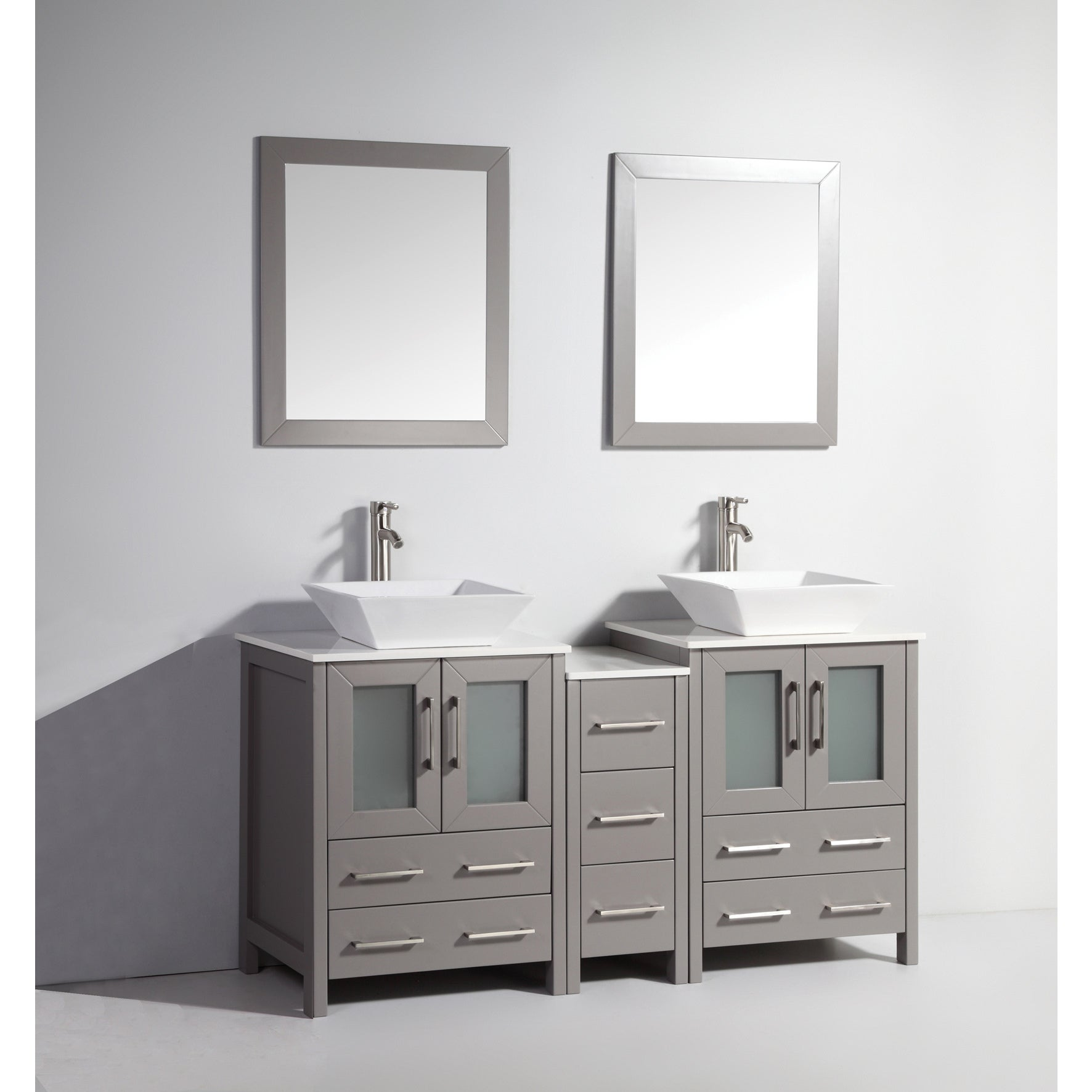Vanity Art 60 Inch Double Sink Bathroom Vanity