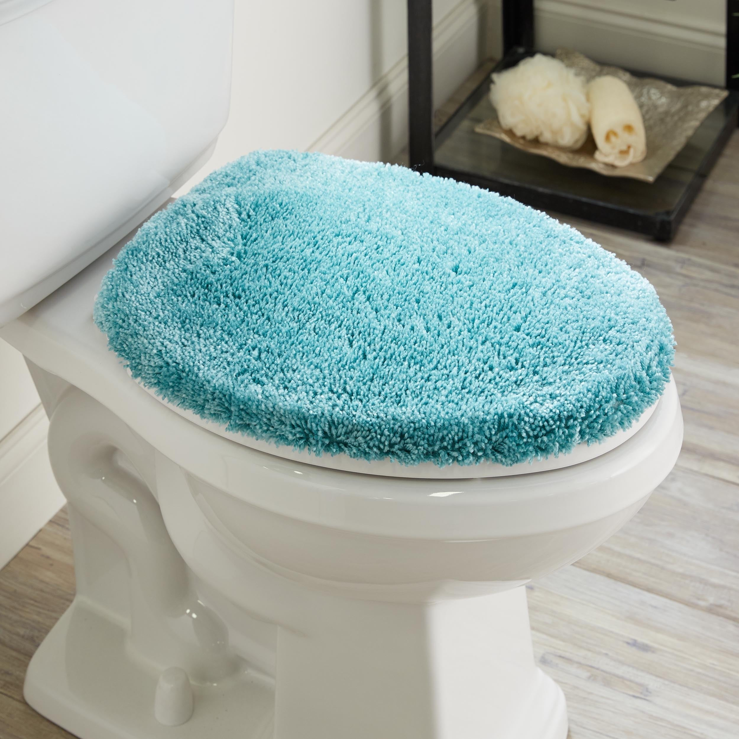 Wamsutta® Duet Elongated Toilet Lid Cover in Latte | eBay
