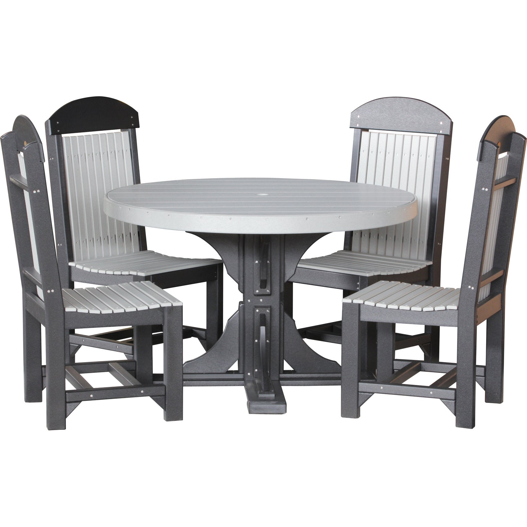 Poly Outdoor 4 Foot Round Table And 4