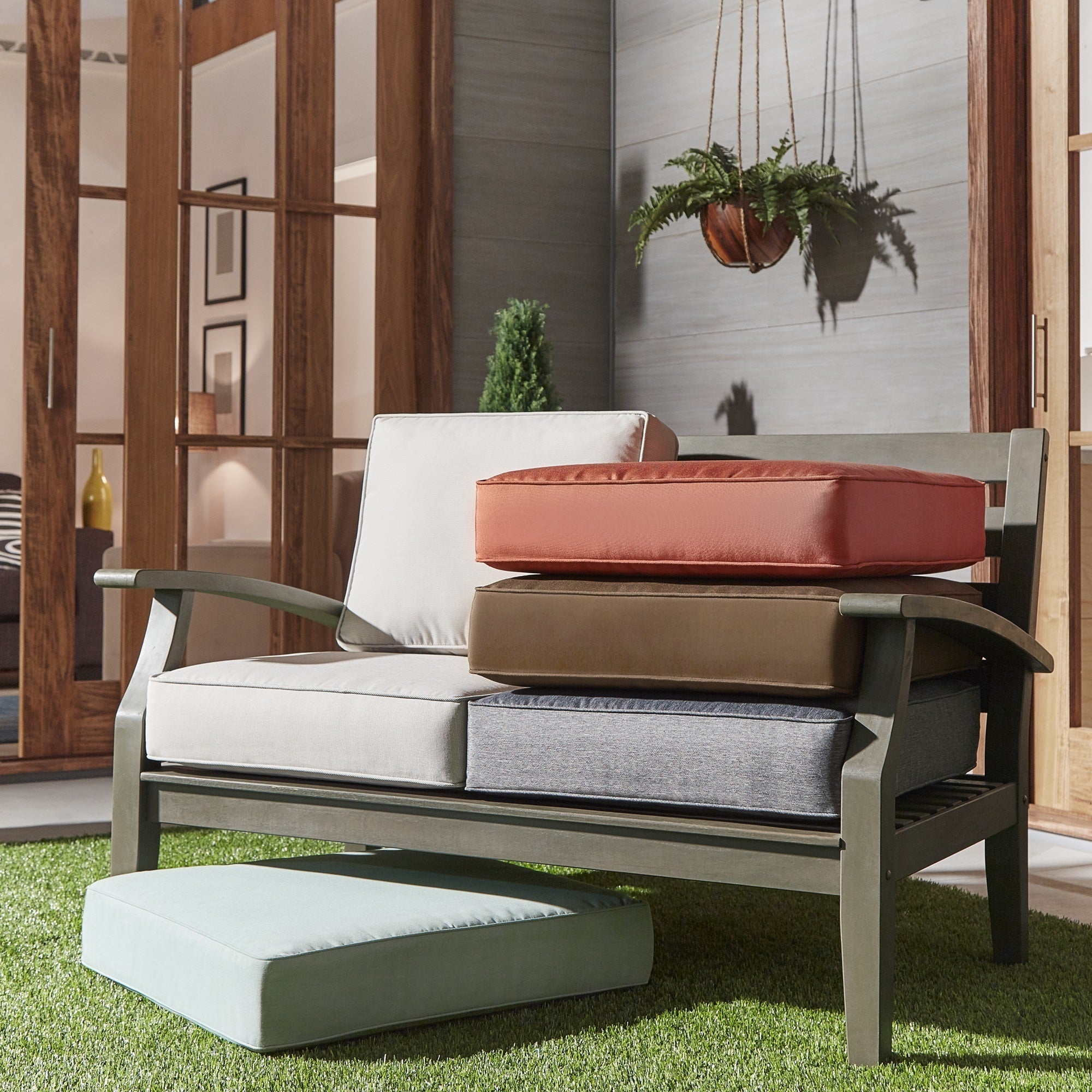 Patio Furniture Loveseat Cushions: Isola Outdoor Fabric Loveseat Cushions INSPIRE Q Oasis