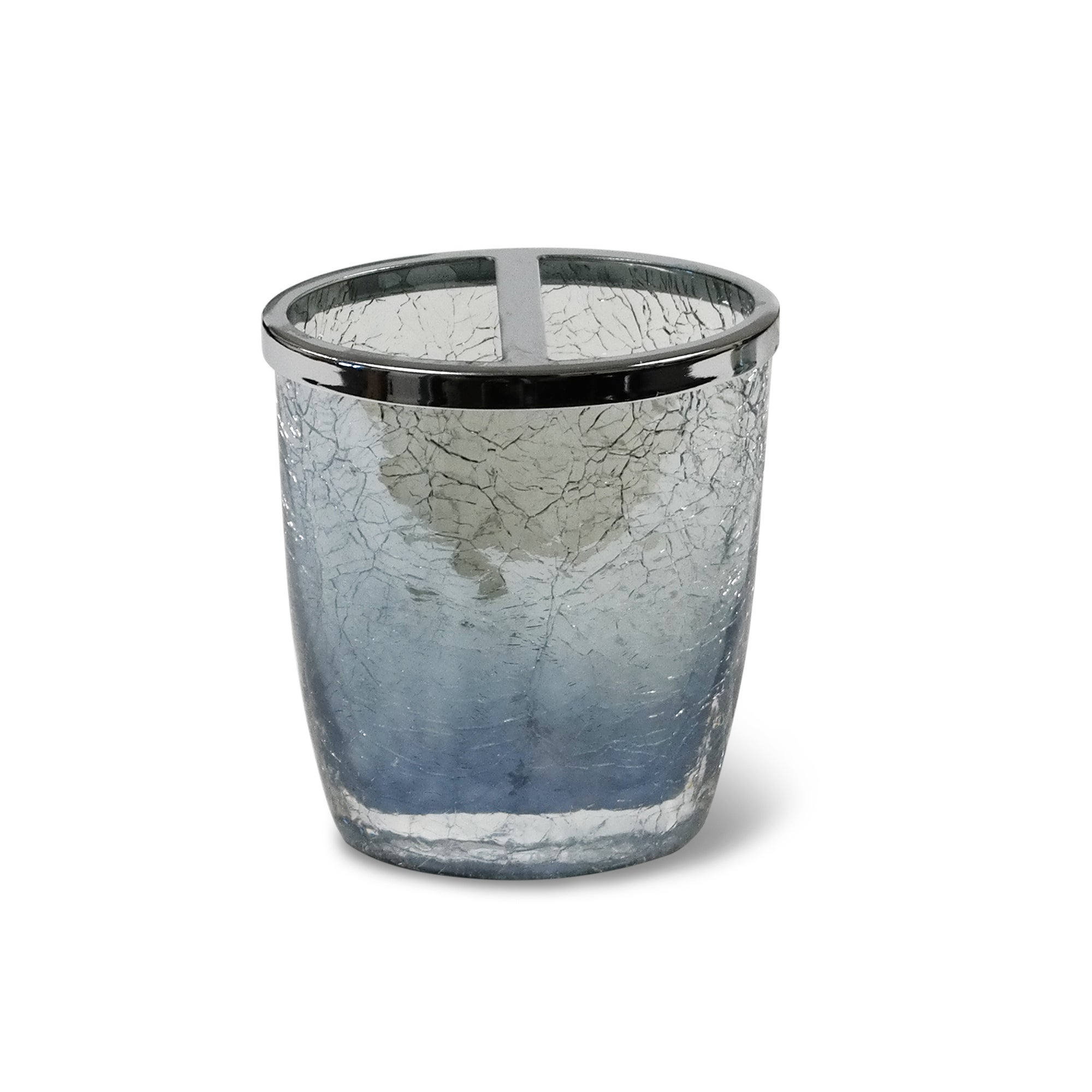 Veratex Cracked Blue Glass Bathroom Accessories Collection ...