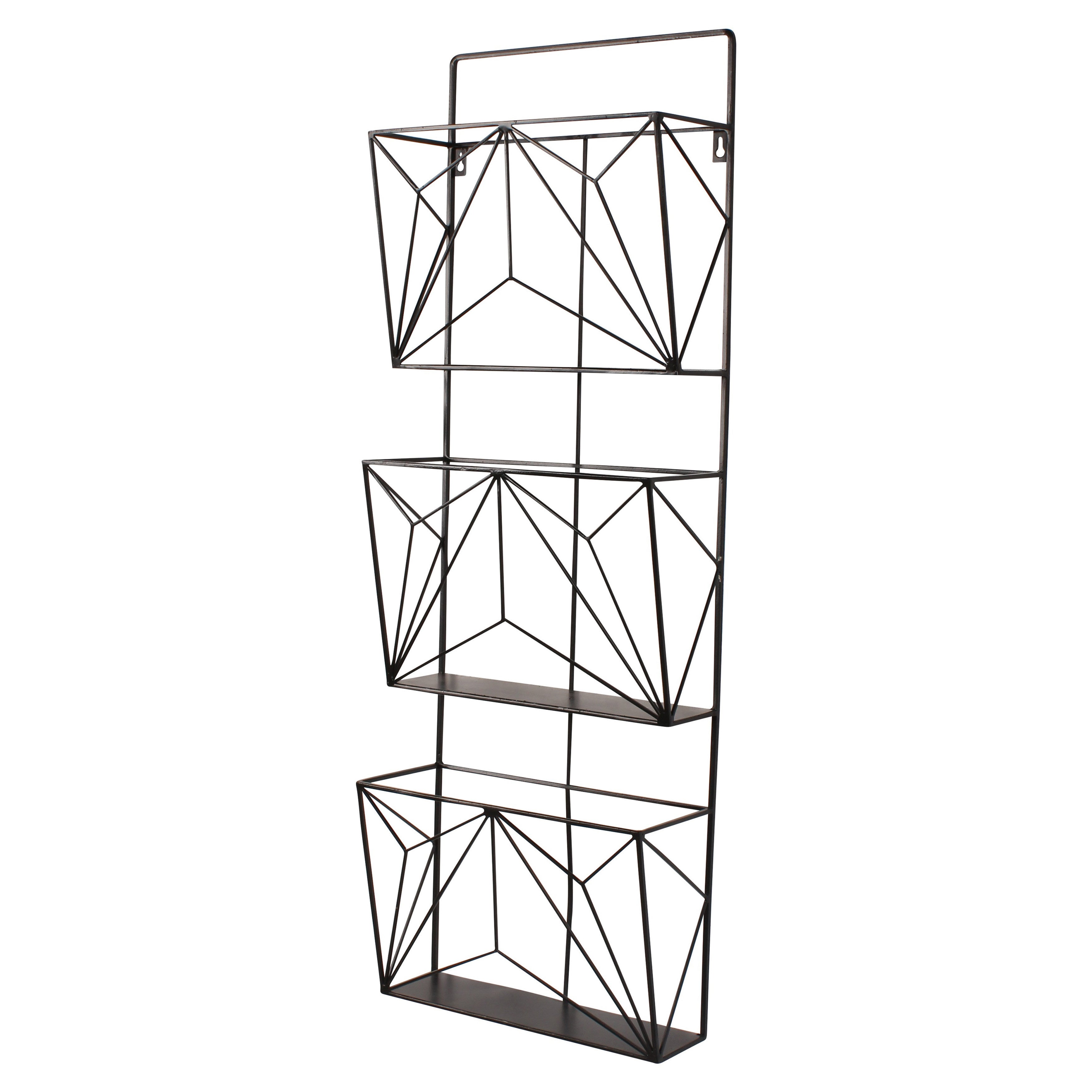 Kate and Laurel Tyde Hanging Wall File Organizer Mail Holder With ...
