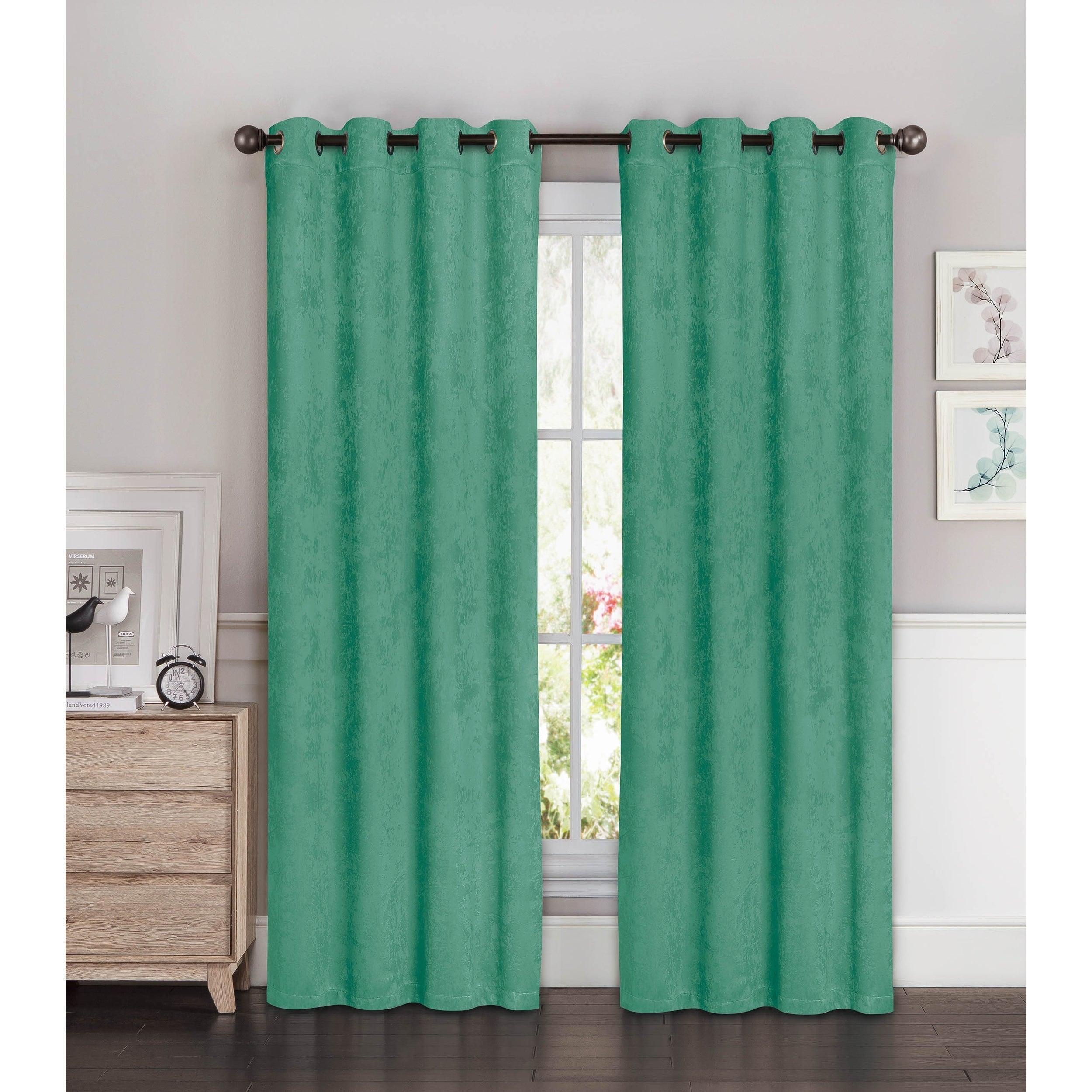 Bella Luna Blackout Curtain Panel Set Of 2 Aqua 54 W X 96 L