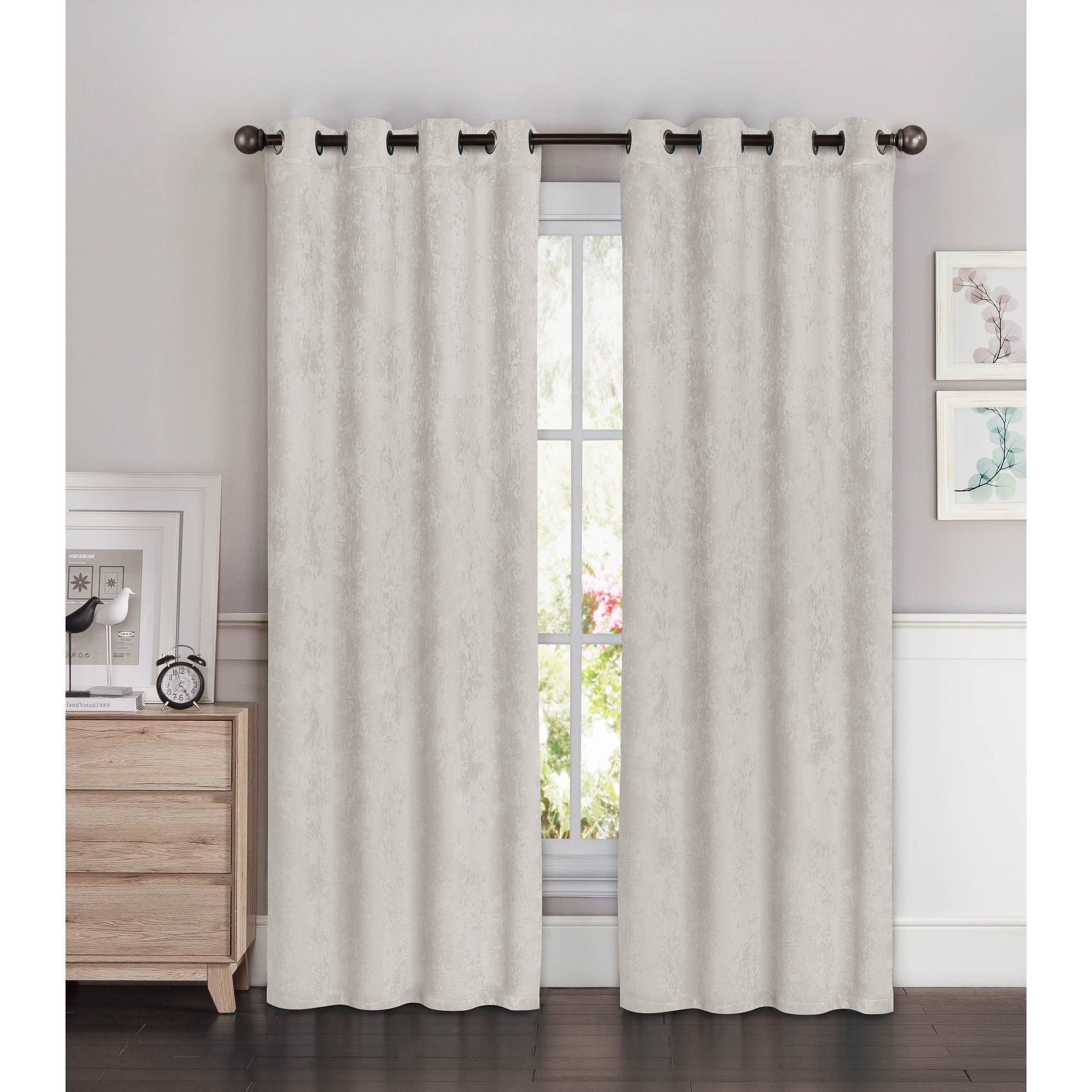 Bella Luna Blackout Curtain Panel Set Of 2 Light Gray 54 W X 96 L