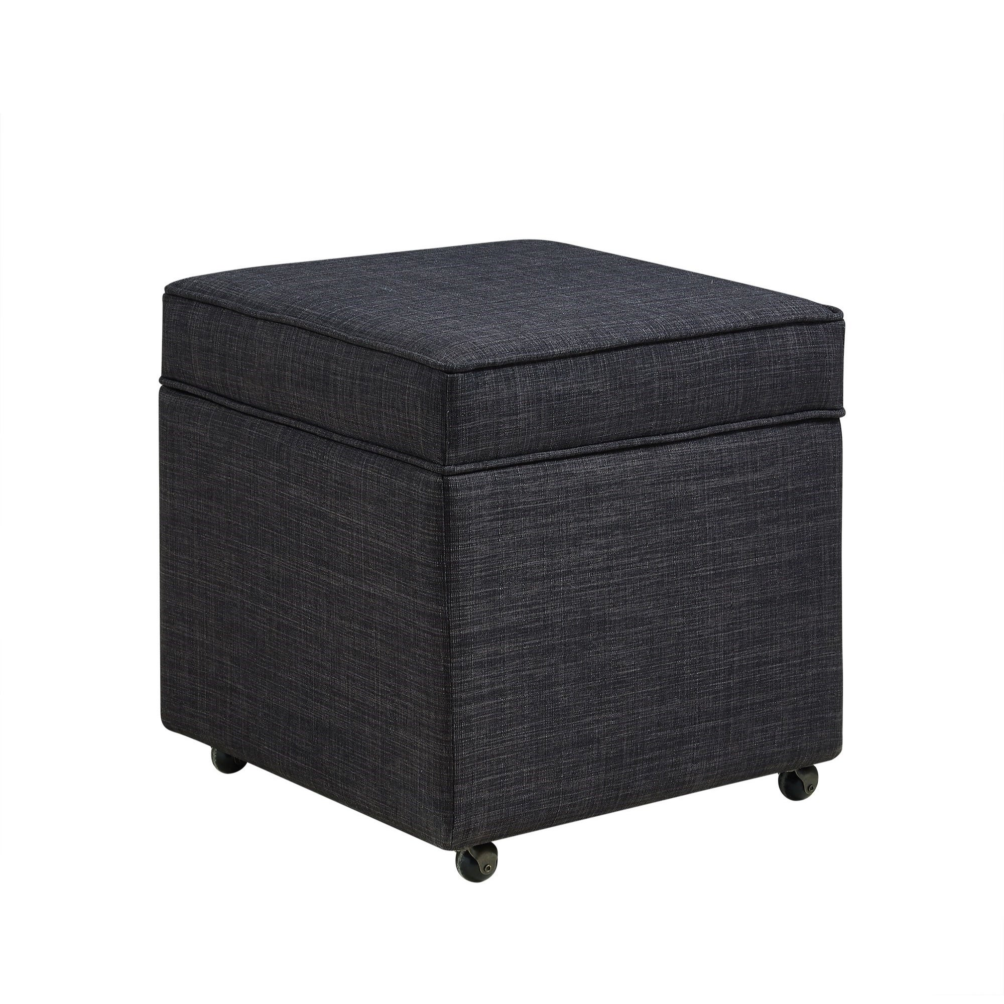 Collins Storage Ottoman Contemporary Linen Or Velvet With