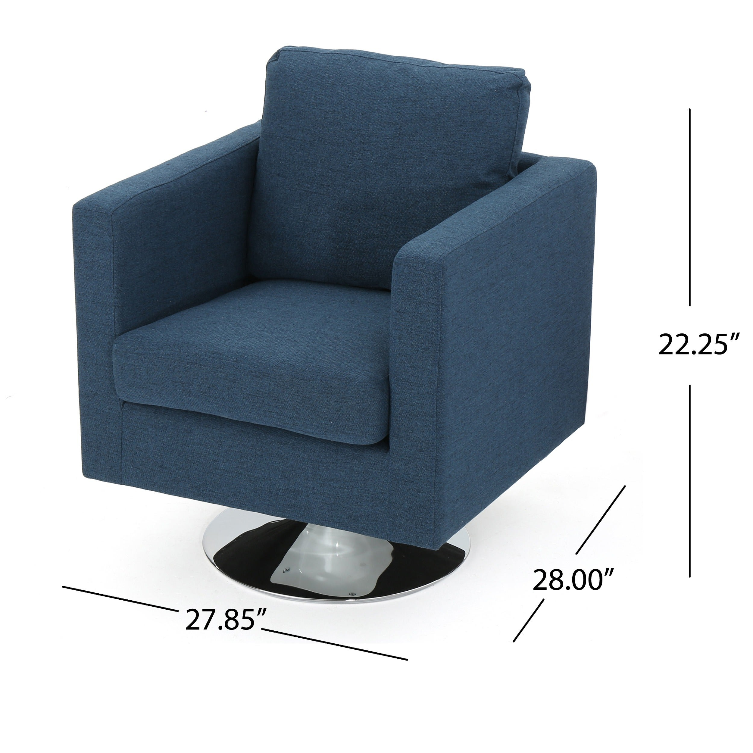 Holden Modern Fabric Swivel Club Chair By Christopher
