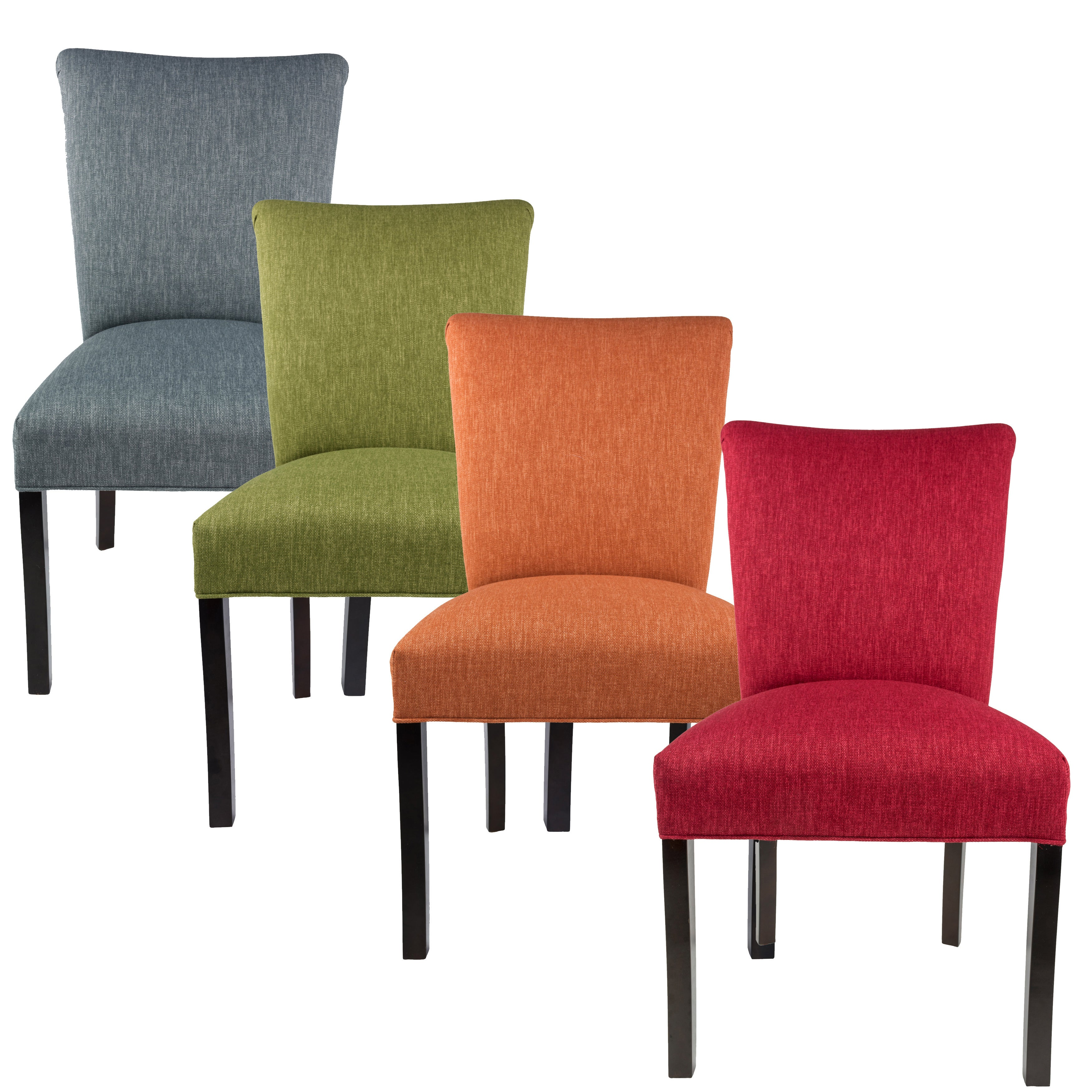 Barcelona collection key largo upholstered contemporary armless dining