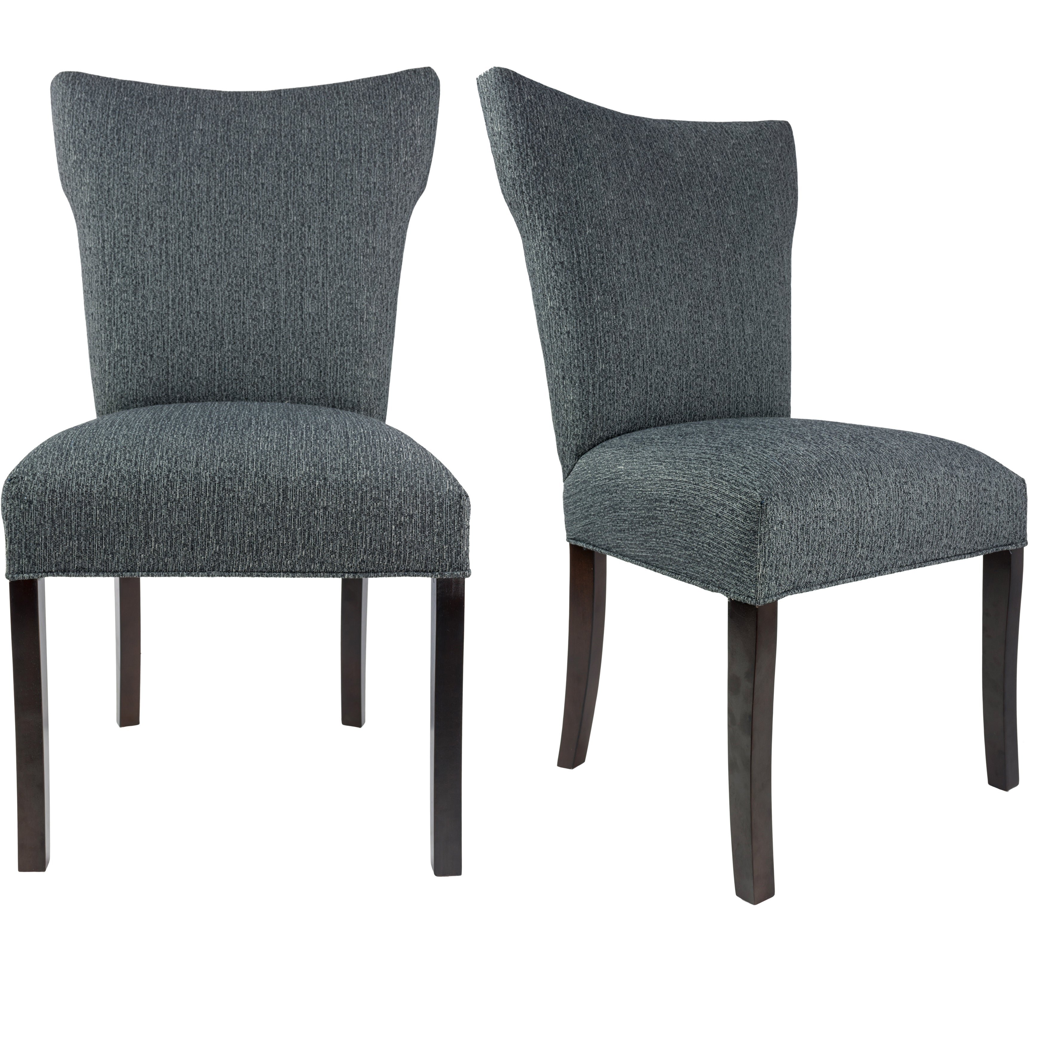 BELLA Collection OLIVIA Upholstered Contemporary Armless Dining Side
