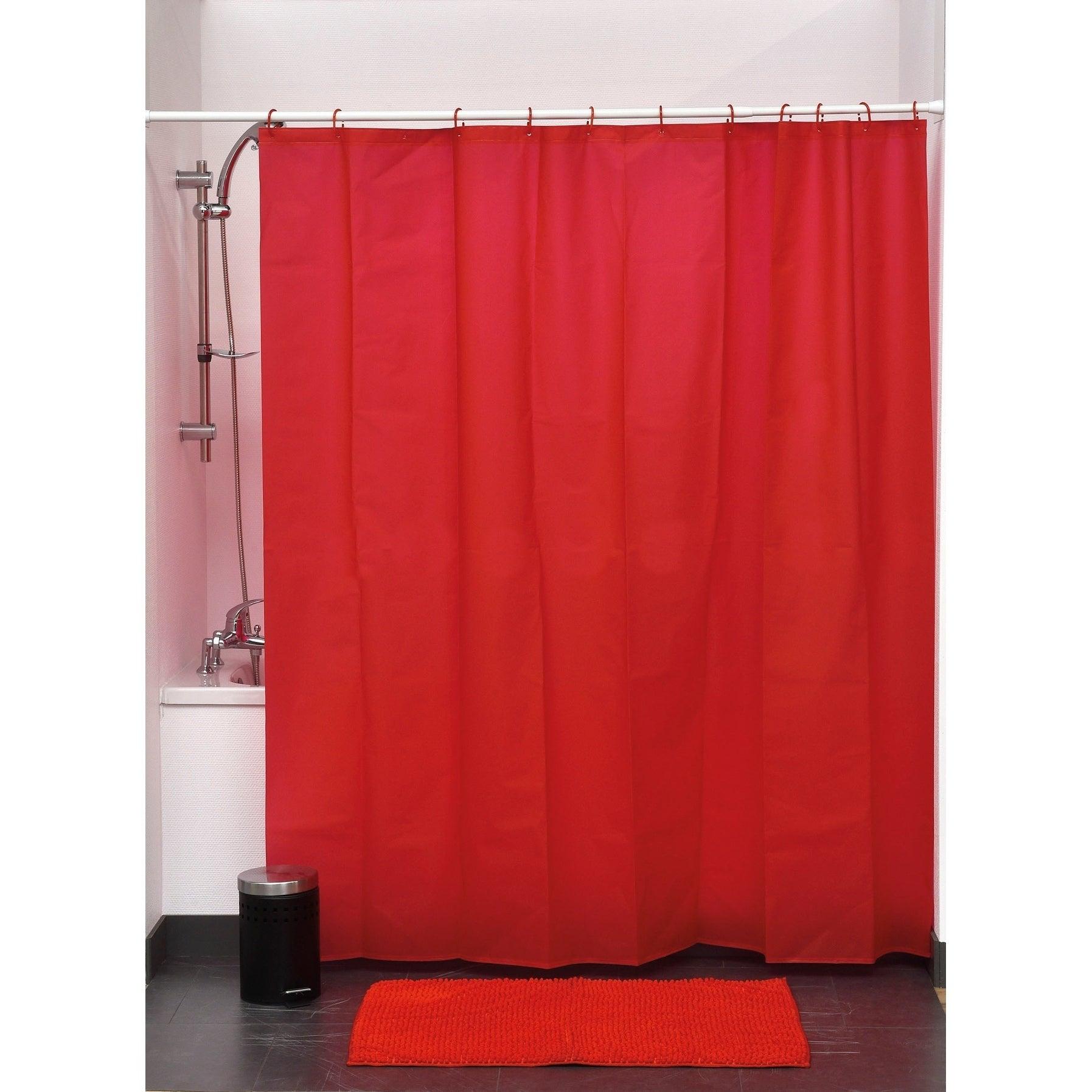 Evideco Bathroom Shower Curtain Eva Solid Color | eBay