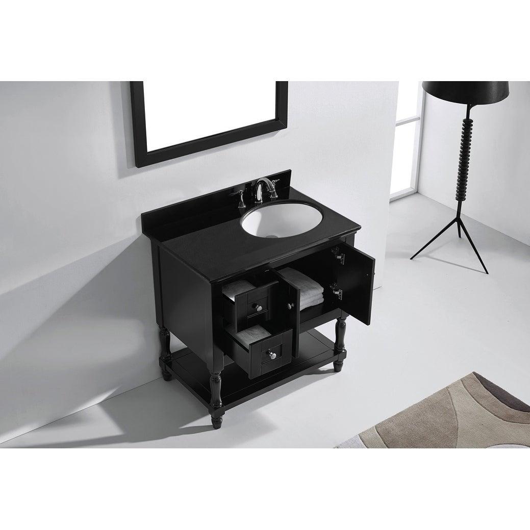 Julianna 36-inch Single Vanity Black Granite Top Mirror Faucet | eBay