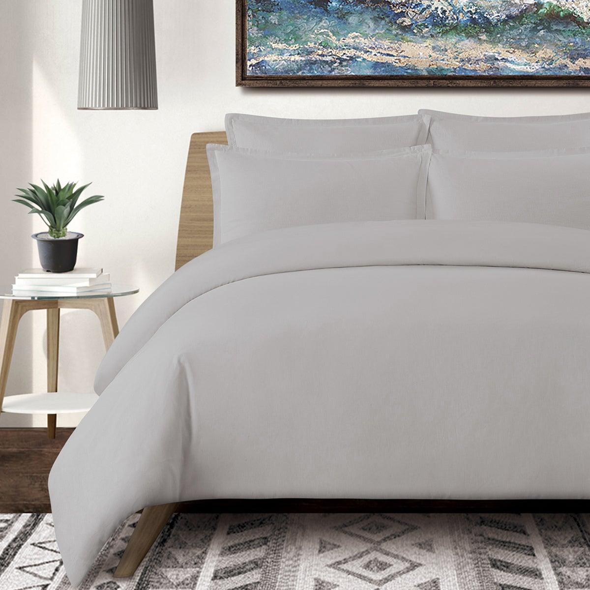 Washed Linen Cotton Blend Duvet Cover Set