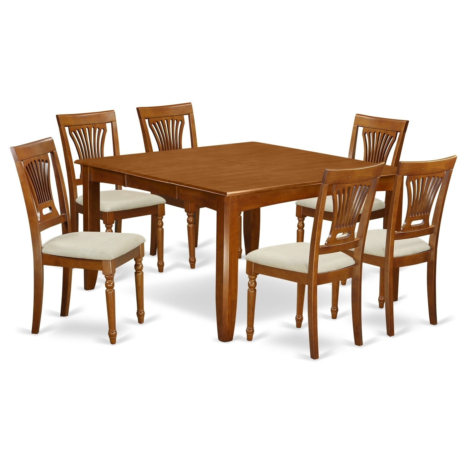 7 piece dining room set table with leaf and 6 kitchen chairs wood rh ebay com dining room table with leaf and 8 chairs Round Dining Table