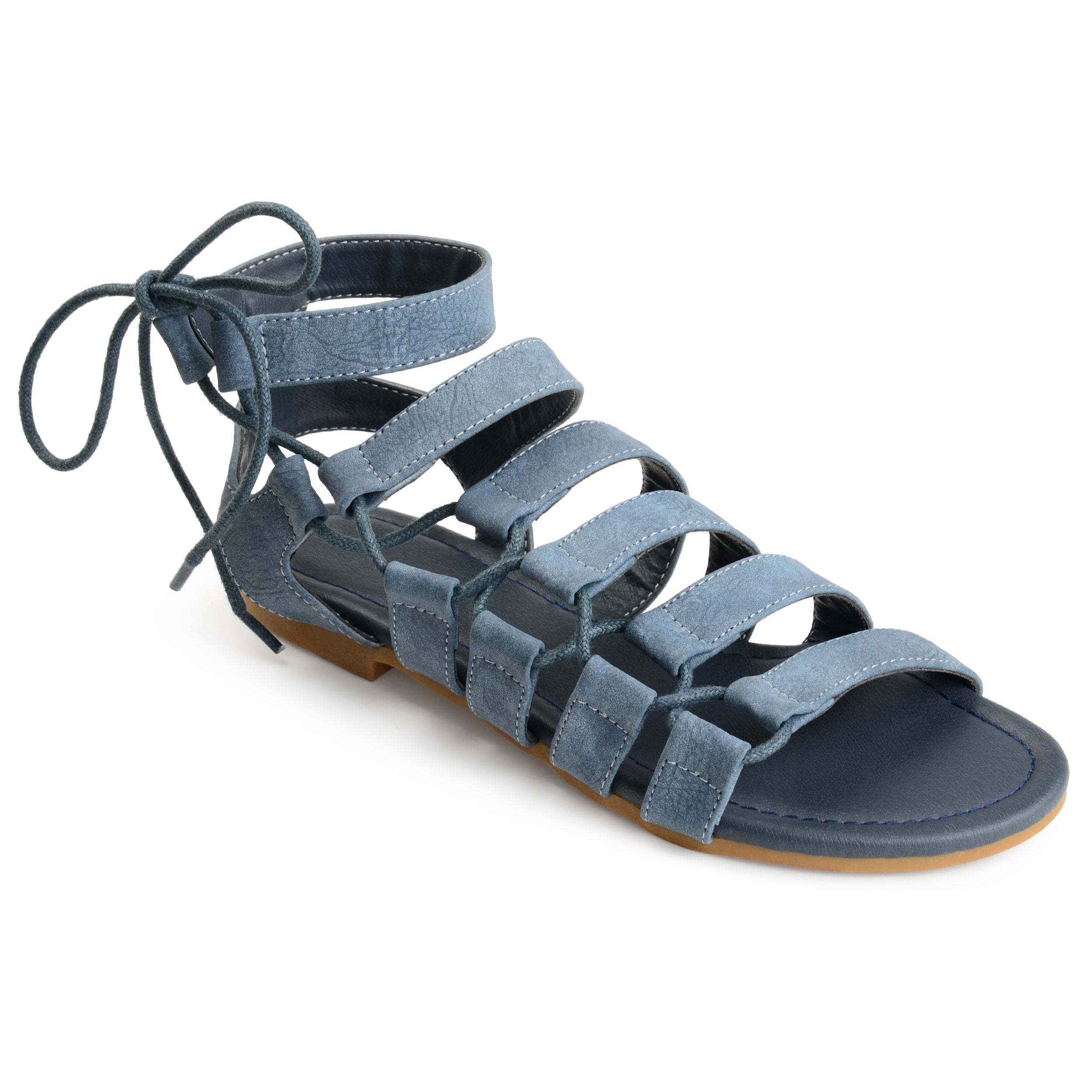 dab0cb2055c2d8 Journee Collection Women s  Cleo  Strappy Caged Gladiator Sandals