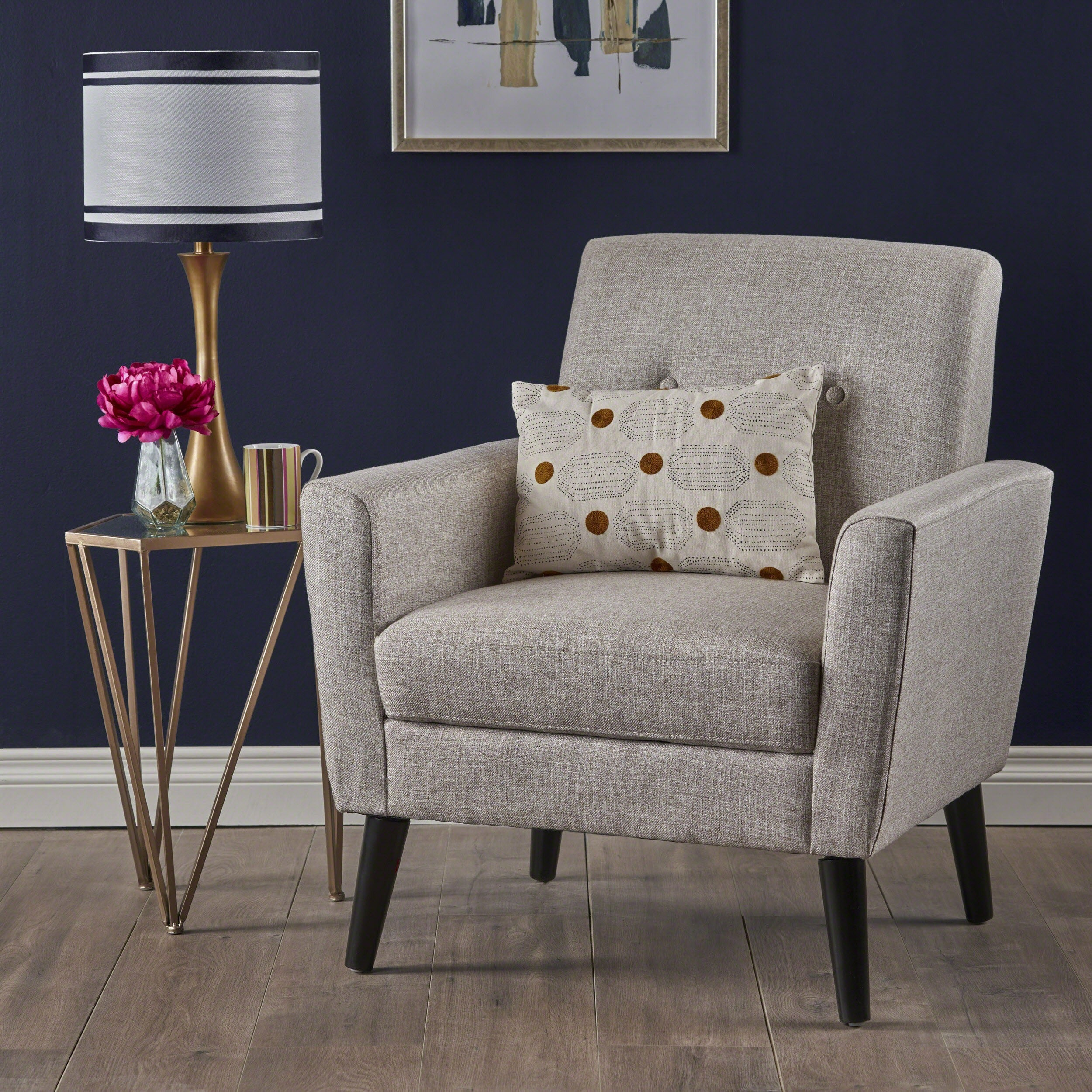 Sienna Mid Century Fabric Club Chair By Christopher