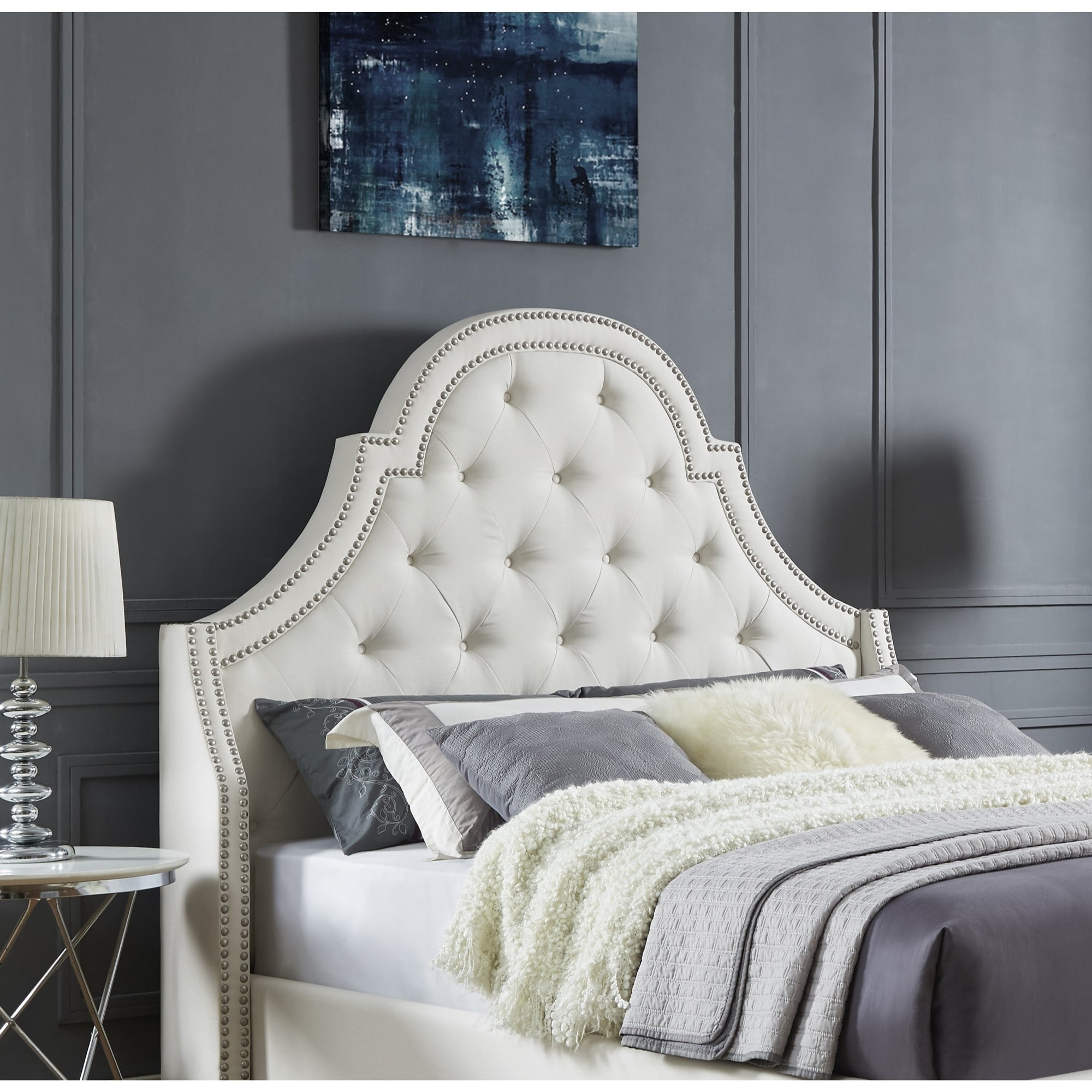Katelynn Velvet Or Linen Button Tufted Headboard