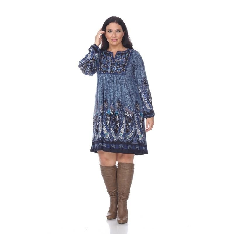 White Mark Womens Plus Size Apolline Embroidered Sweater Dress Ebay