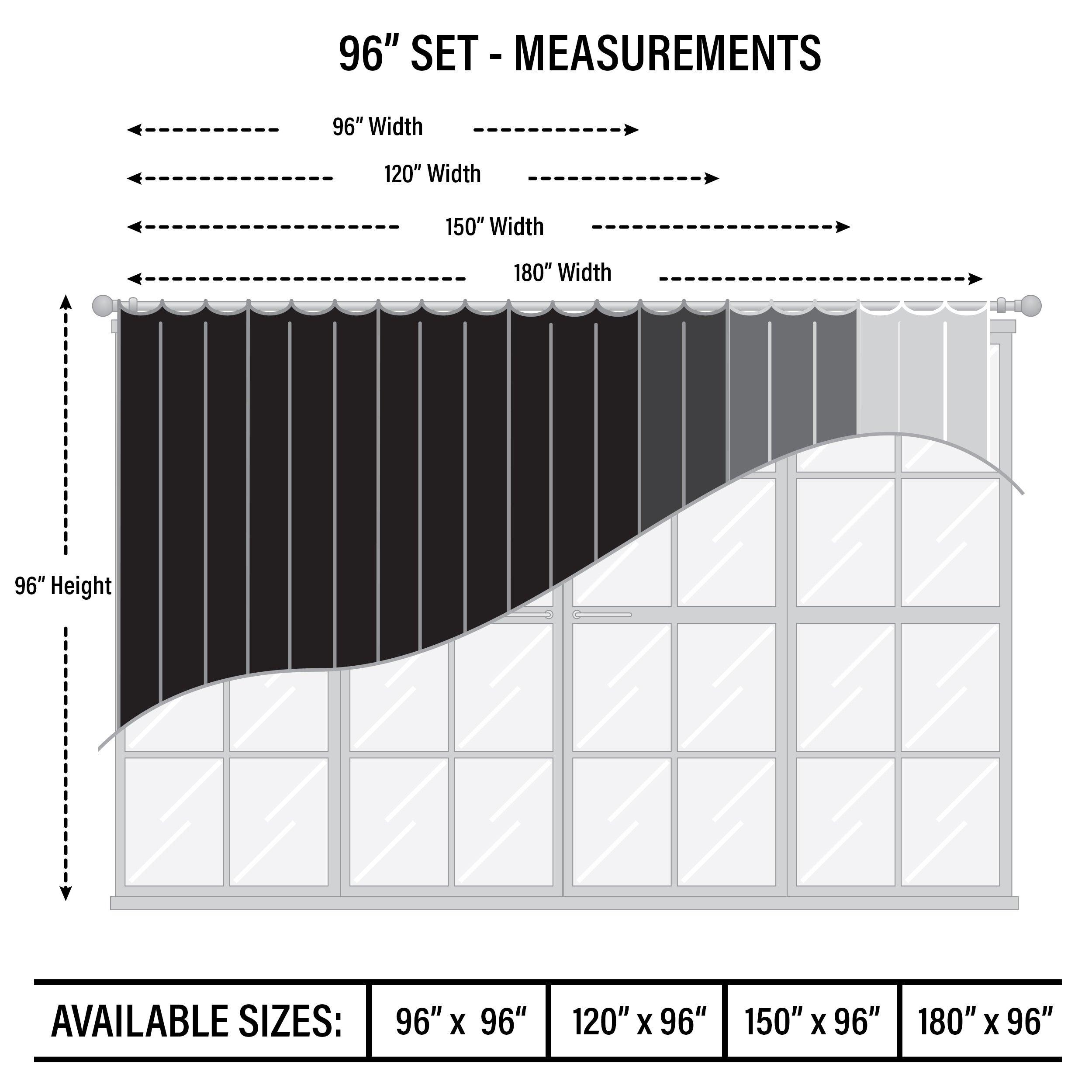 Instyledesign Premium Extra Wide Heavy Duty Sliding Door
