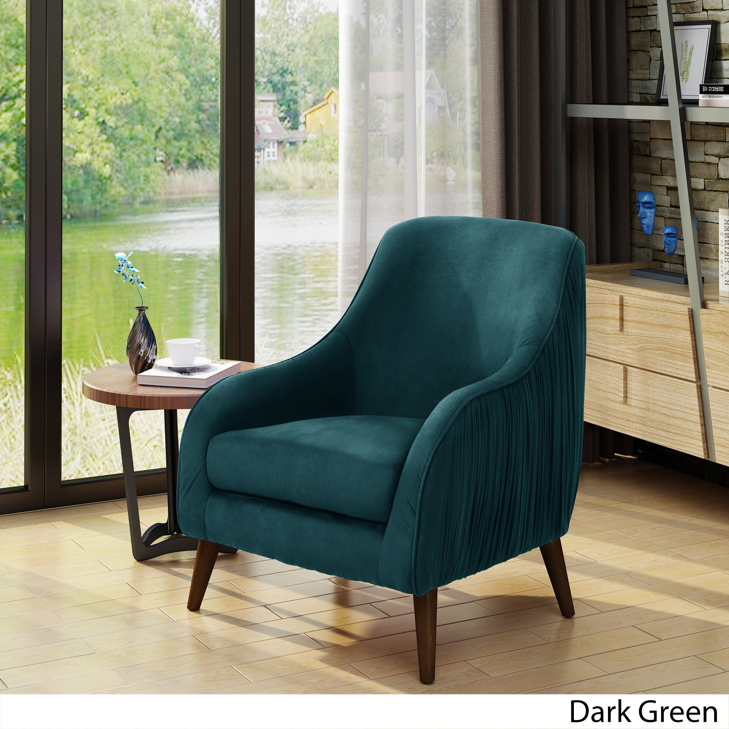 Bertie Mid Century Modern Velvet Chair By Christopher