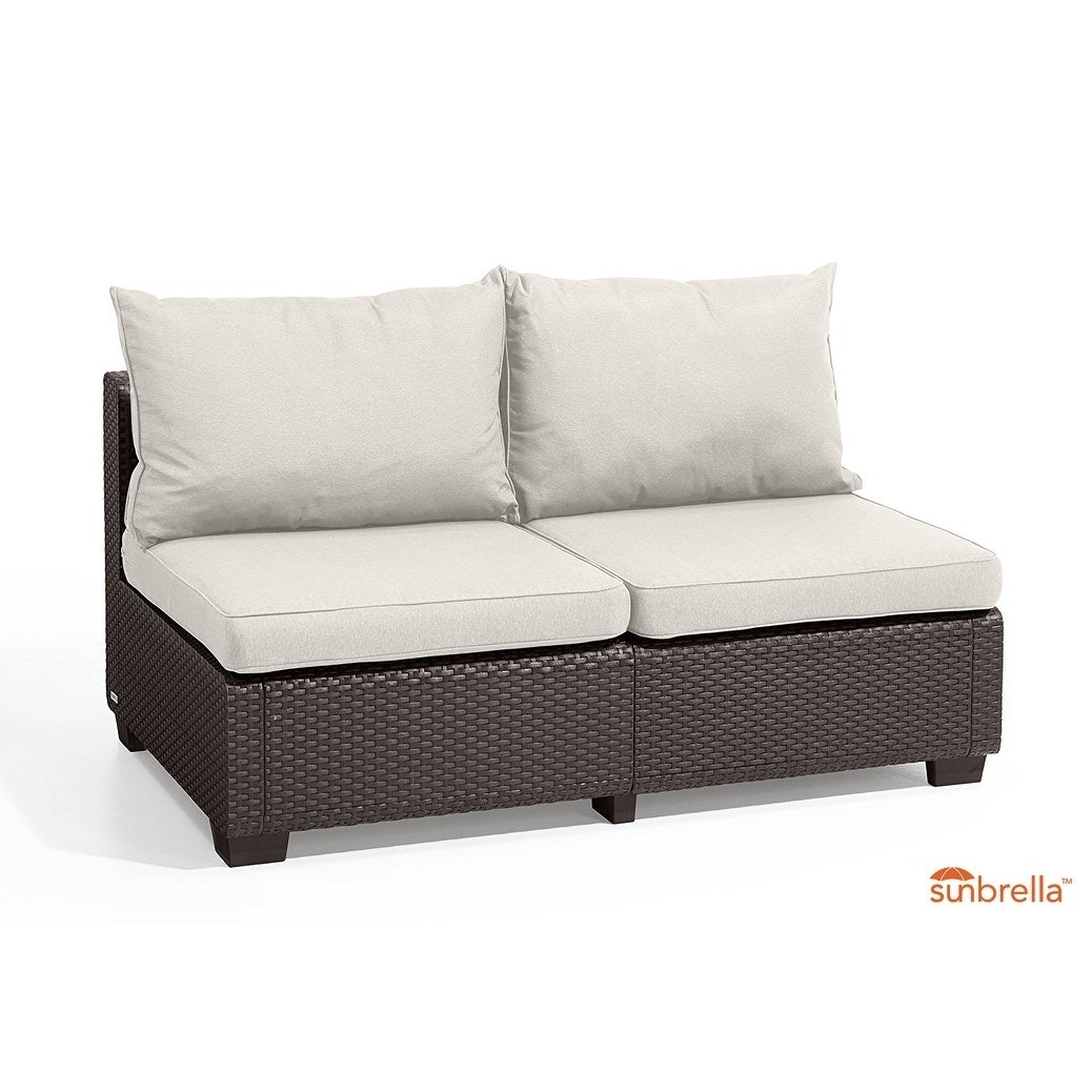 Keter Sapporo All Weather Outdoor Patio Loveseat With
