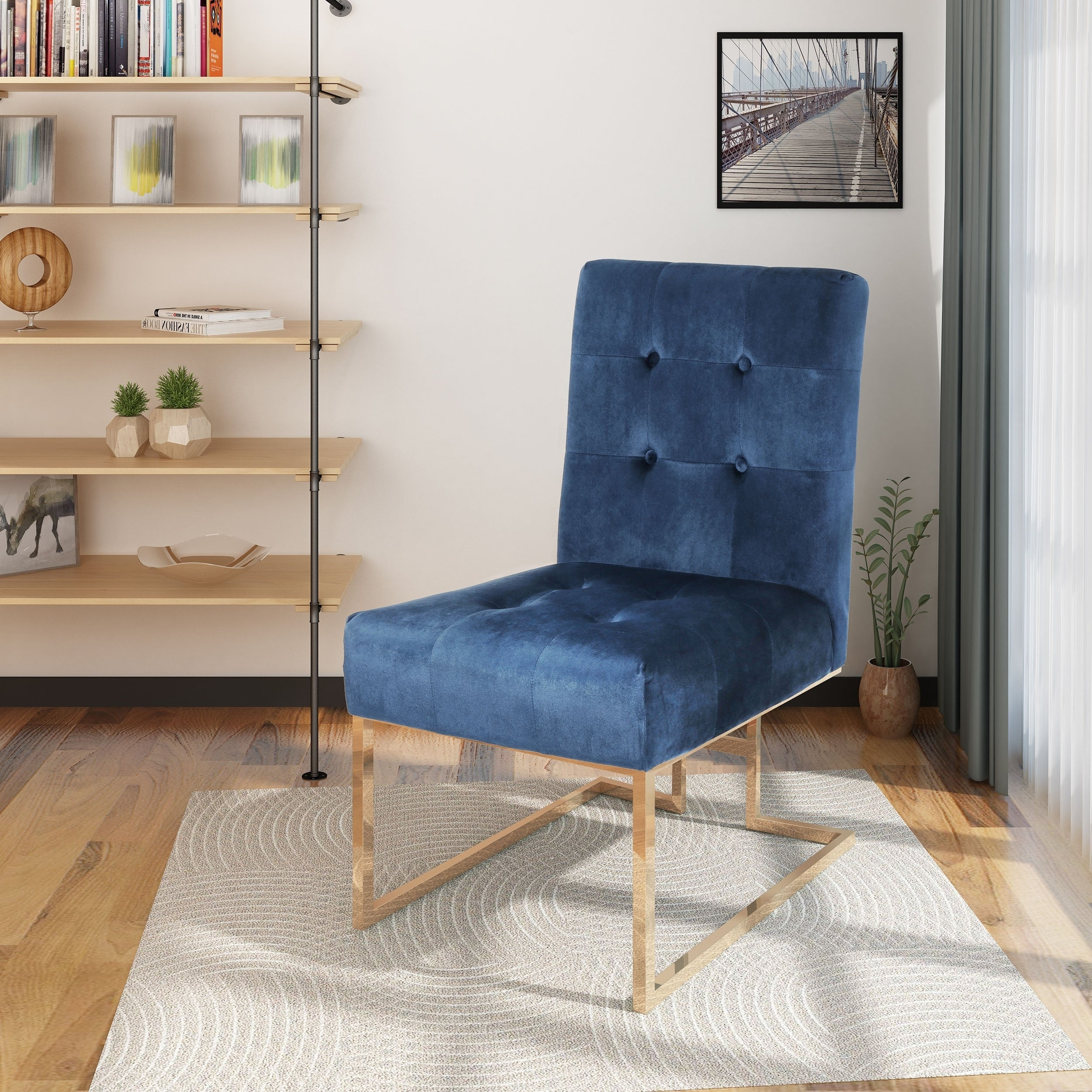Barto Modern Velvet Accent Dining Chair By Christopher