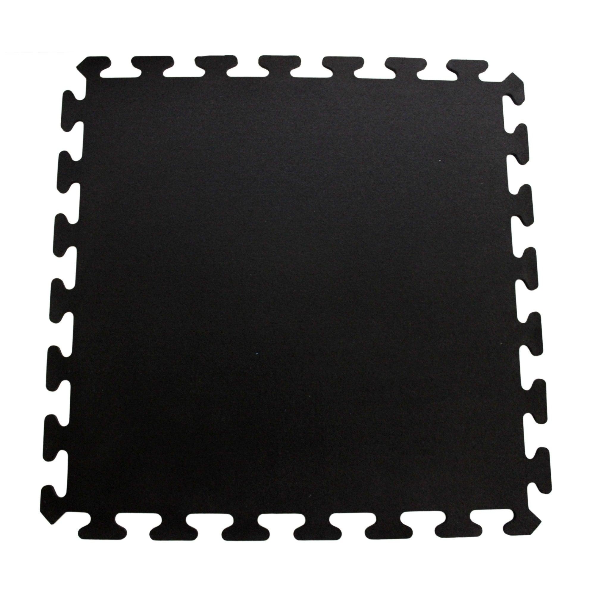 Mats Inc Iflex Recycled Rubber Interlocking Floor Tiles In Black Ebay